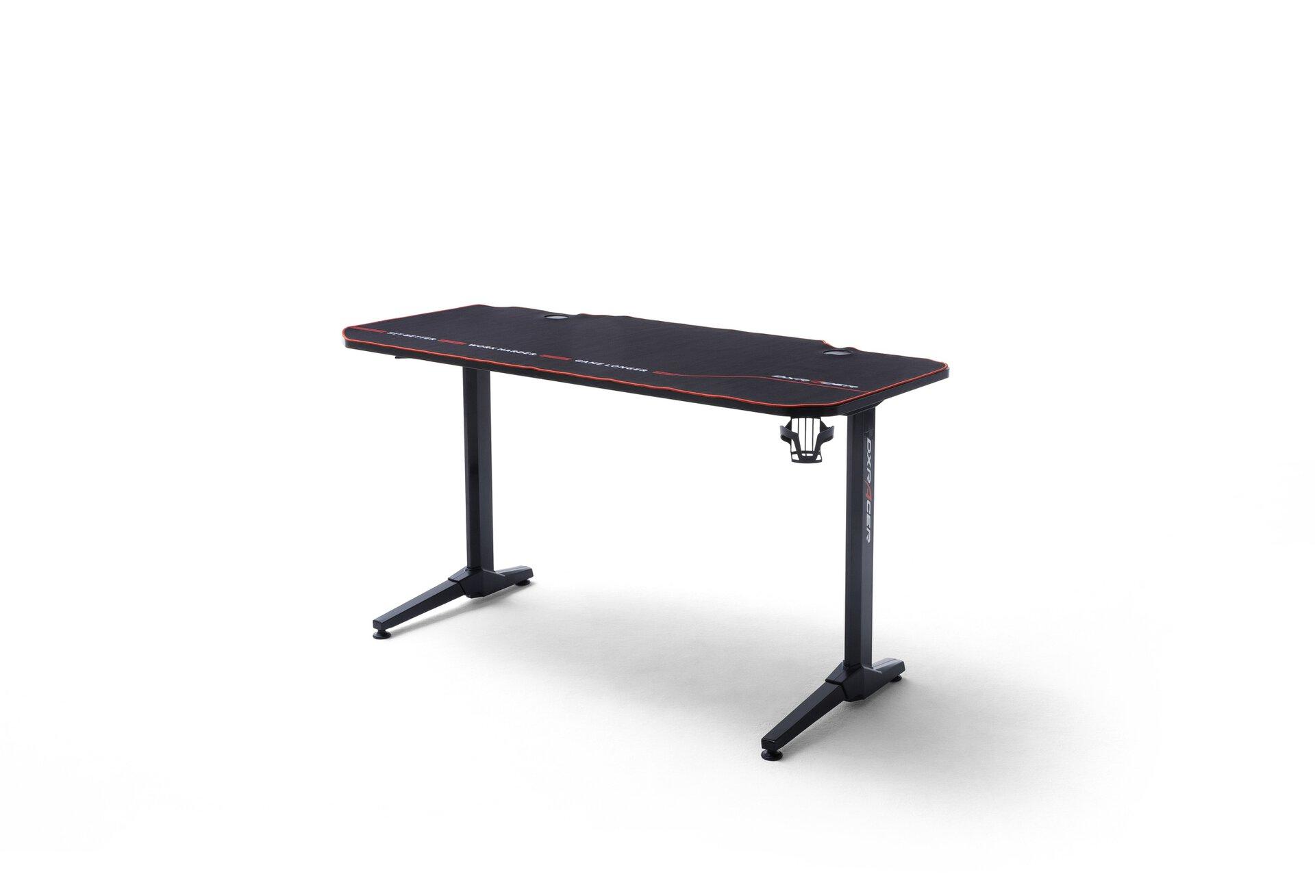 Schreibtisch DX-RACER-DESK MCA furniture Holzwerkstoff schwarz 66 x 75 x 140 cm