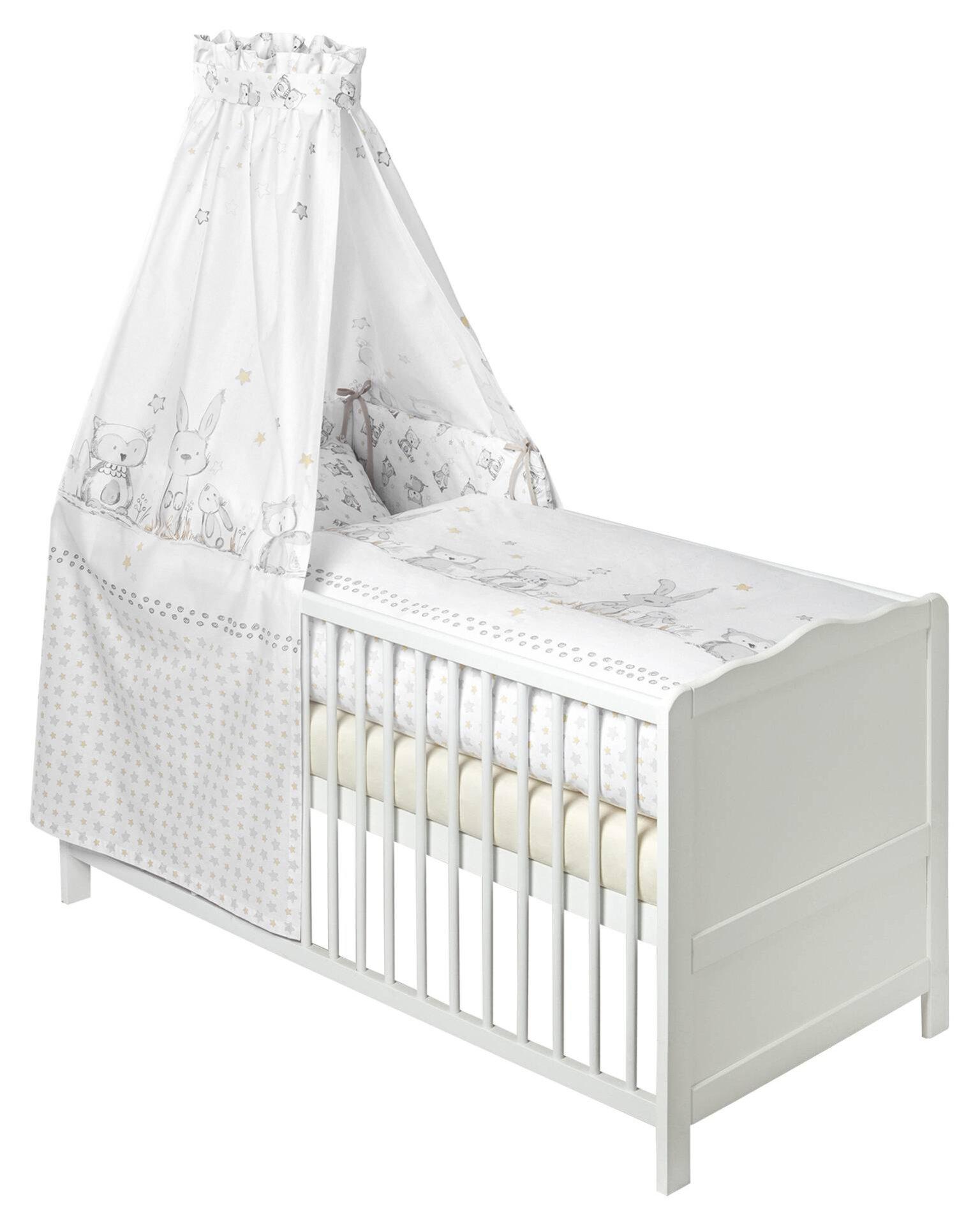 Babybettwäsche Häschen und Eule Zöllner Julius Textil 100 x 135 cm