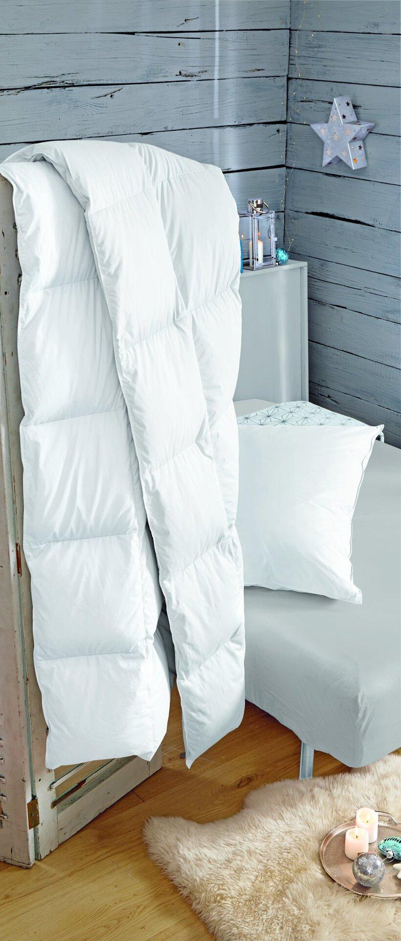 Kopfkissen GOLF VON ALASKA medium Centa-Star extra Textil weiß 80 x 80 cm