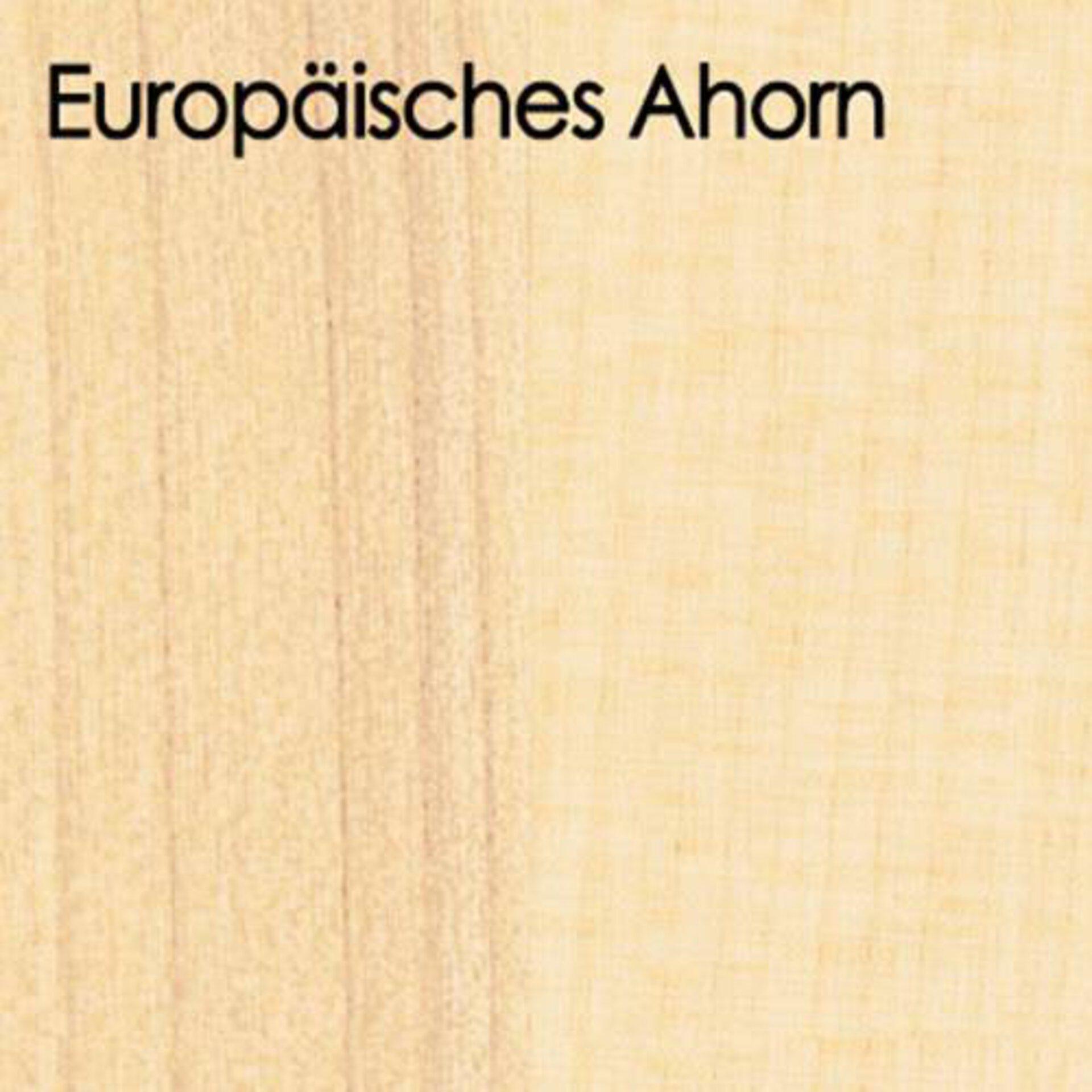 Arbeitsplatte aus Massivholz in der Ausführung Europäisches Ahorn