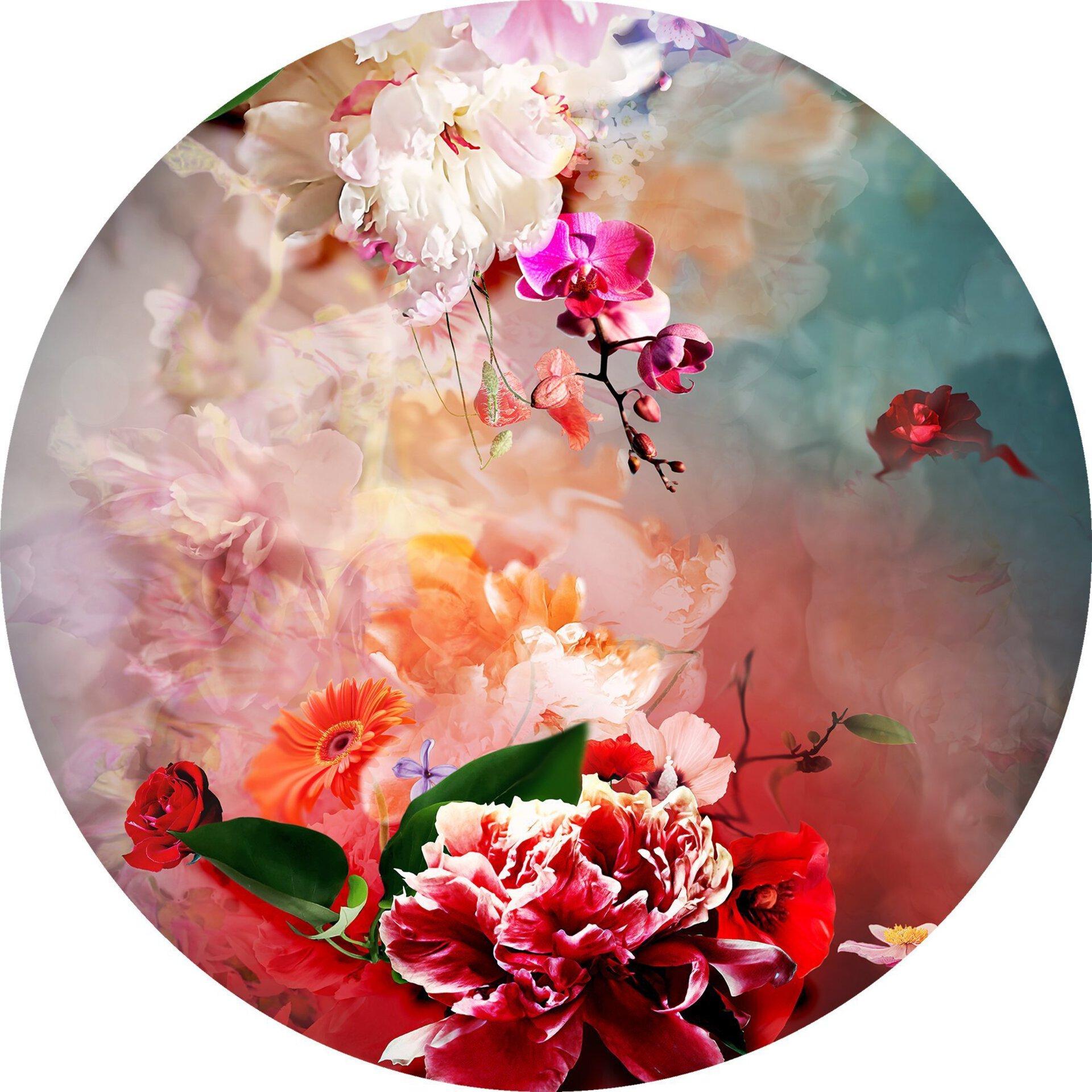 Bild Colourful Baroque Flowermix III Pro-Art Glas mehrfarbig 30 x 30 x 1 cm