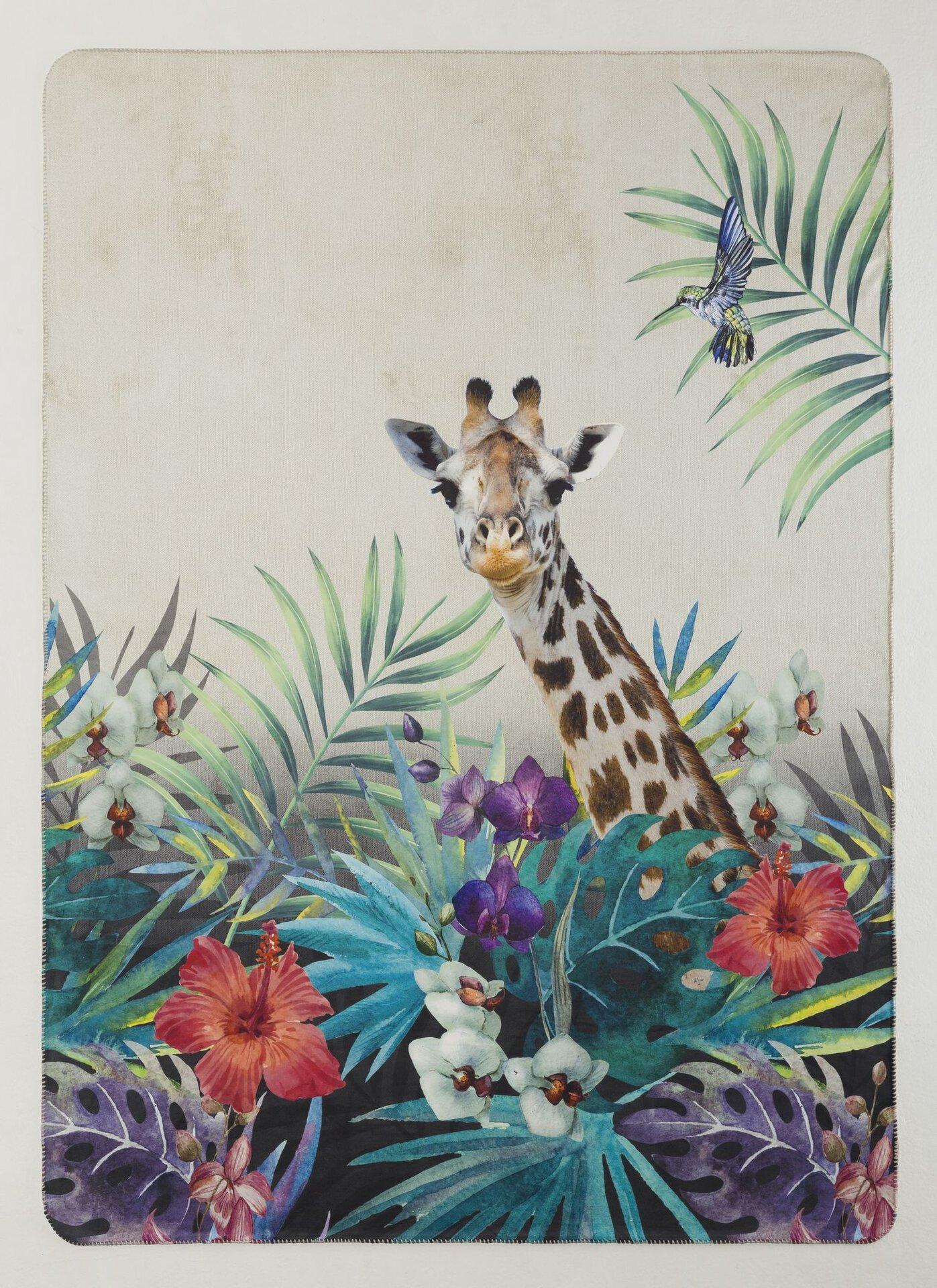Wendedecke Safari Giraffe Casa Nova Textil mehrfarbig 150 x 200 cm