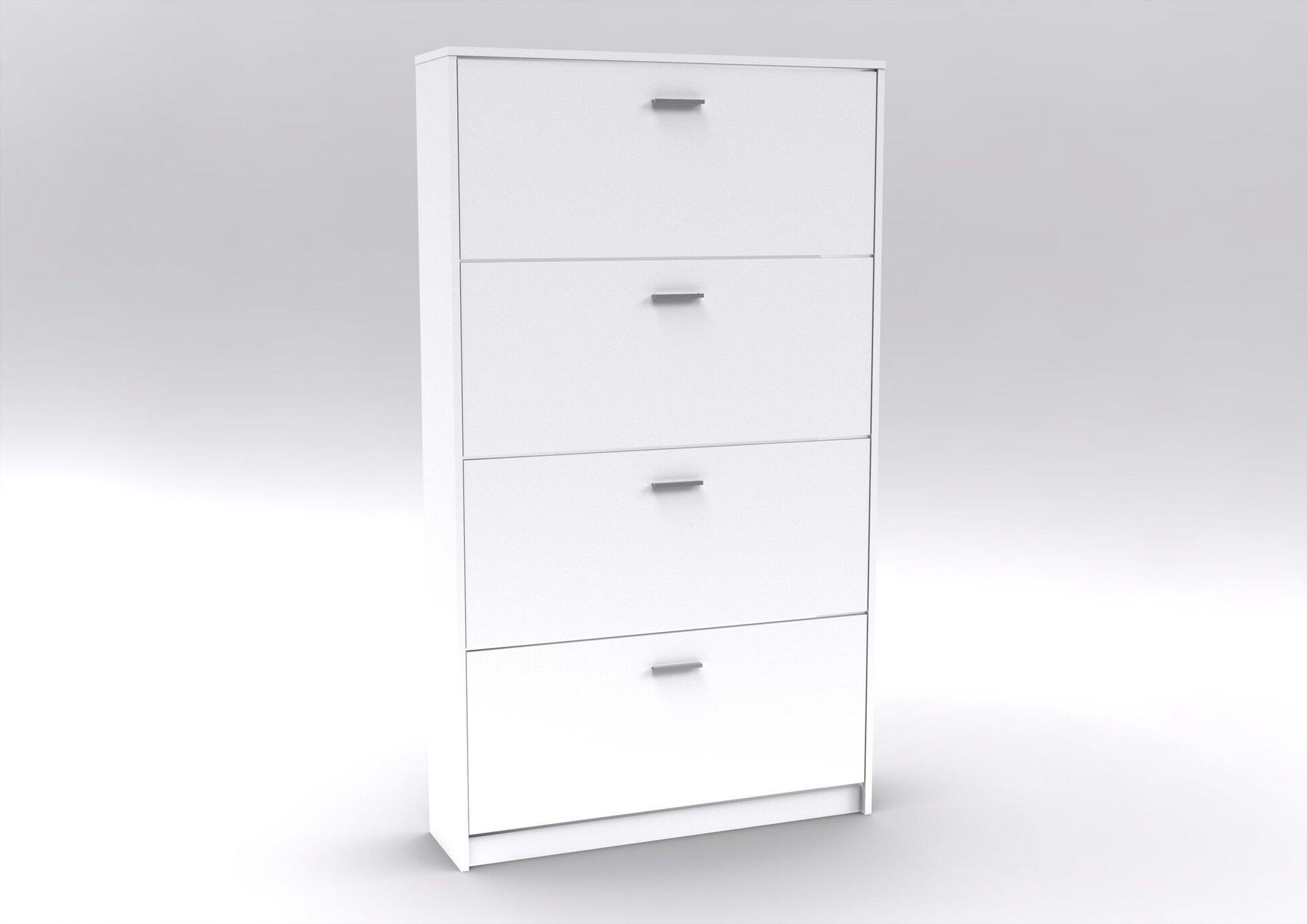 Schuhschrank HMW Möbel Holzwerkstoff weiß 2 x 1 cm