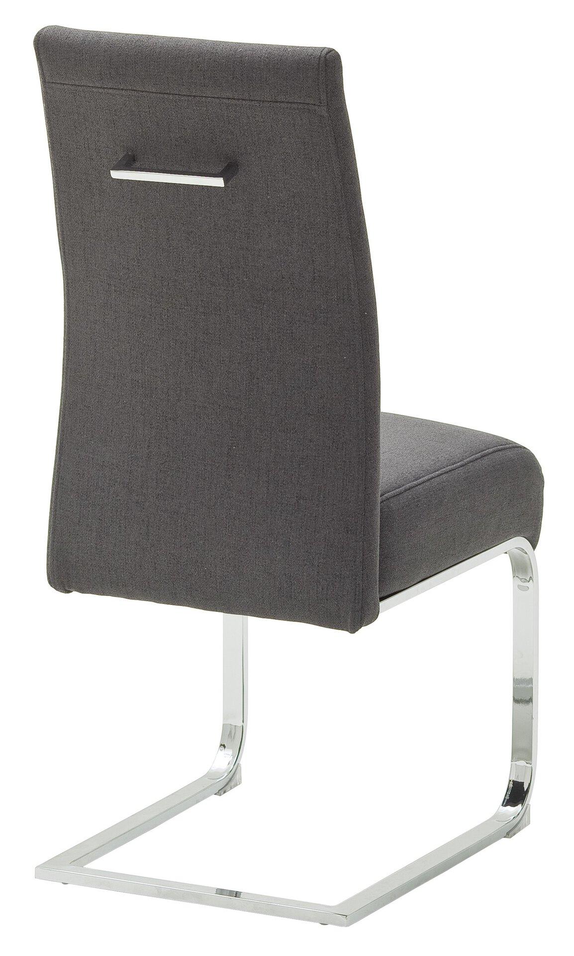 Stuhl FOSHAN MCA furniture Textil grau 63 x 103 x 46 cm
