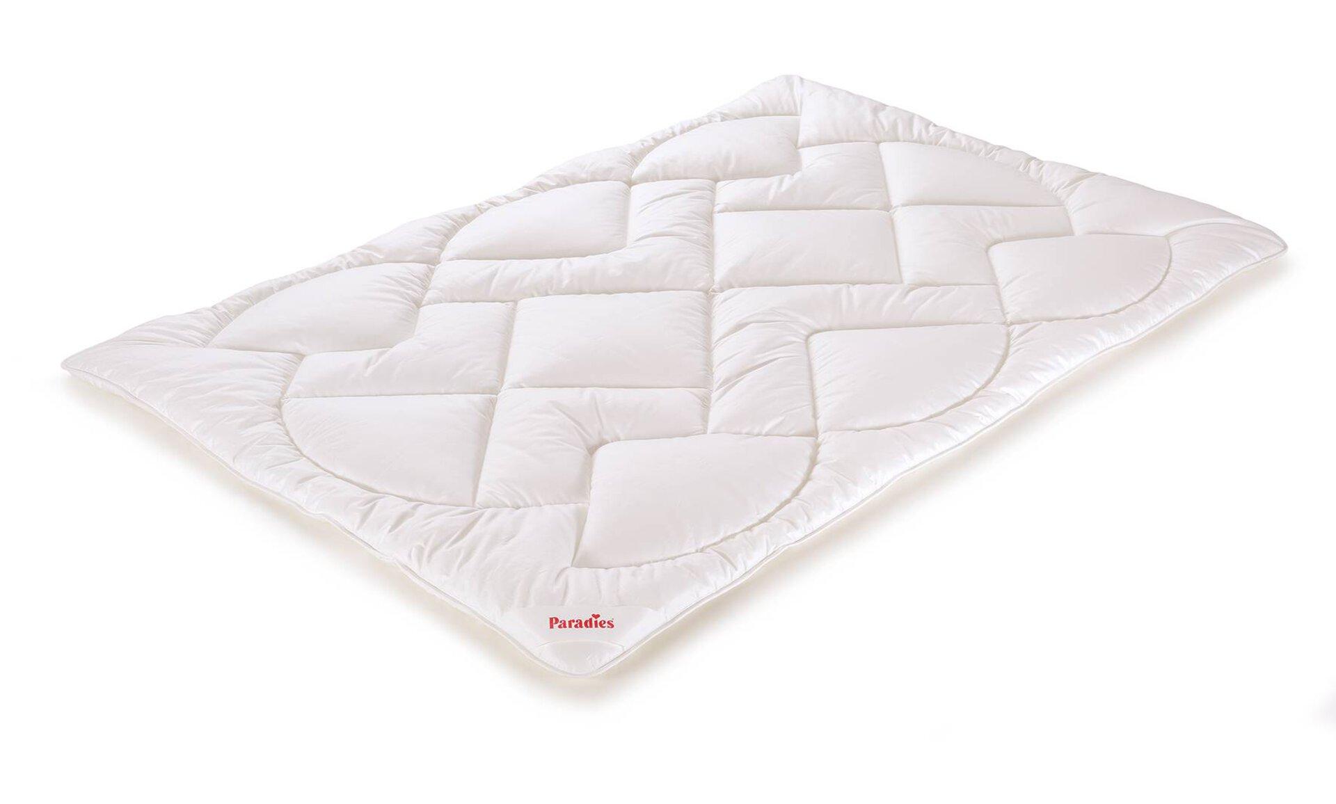 Winterdecke Anela Bio winterwarm Paradies Textil weiß 135 x 200 cm