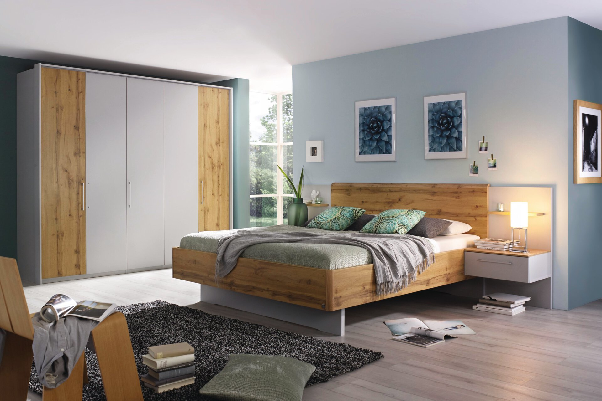 Schlafzimmer NOVY Vito Holzwerkstoff grau