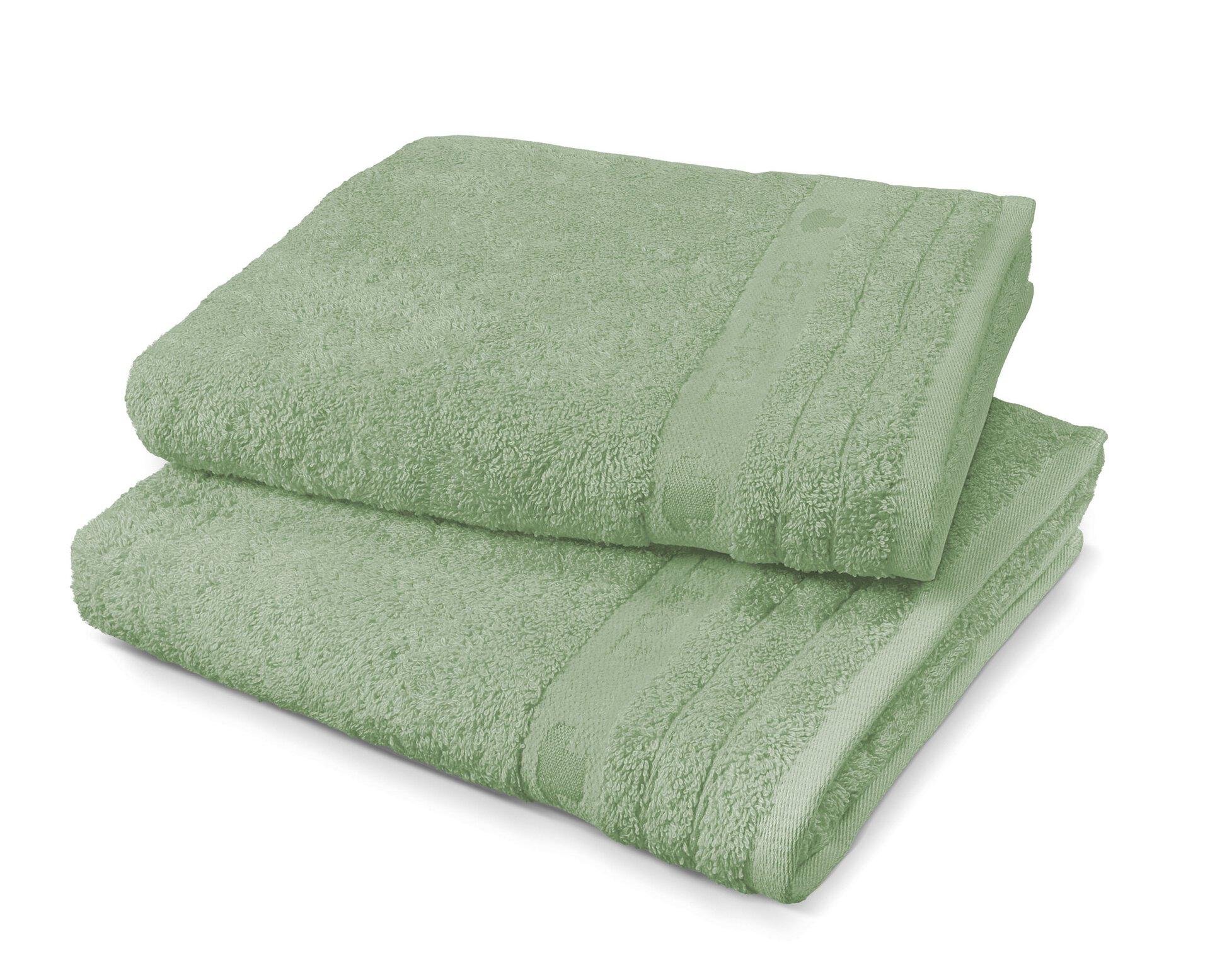 Badetuch Uni Towel Tom Tailor Textil grün 80 x 200 cm