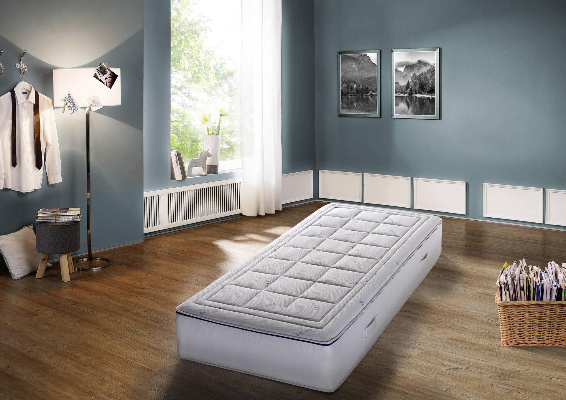 Taschenfederkernmatratze Deepblue Tilos MONDO Textil weiß 100 x 24 x 200 cm
