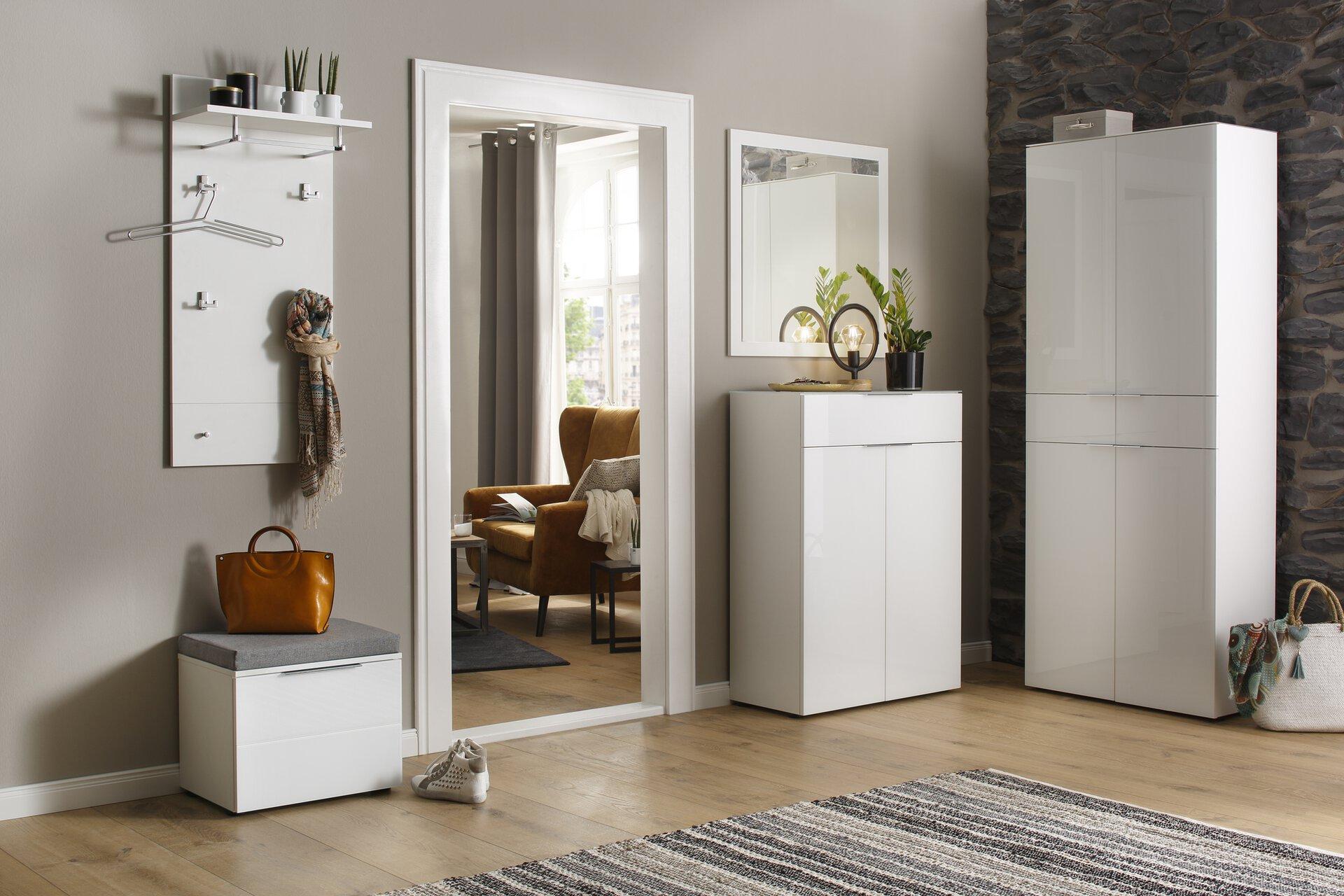 Garderobenpaneel SWAG Vito Holzwerkstoff weiß 25 x 107 x 49 cm