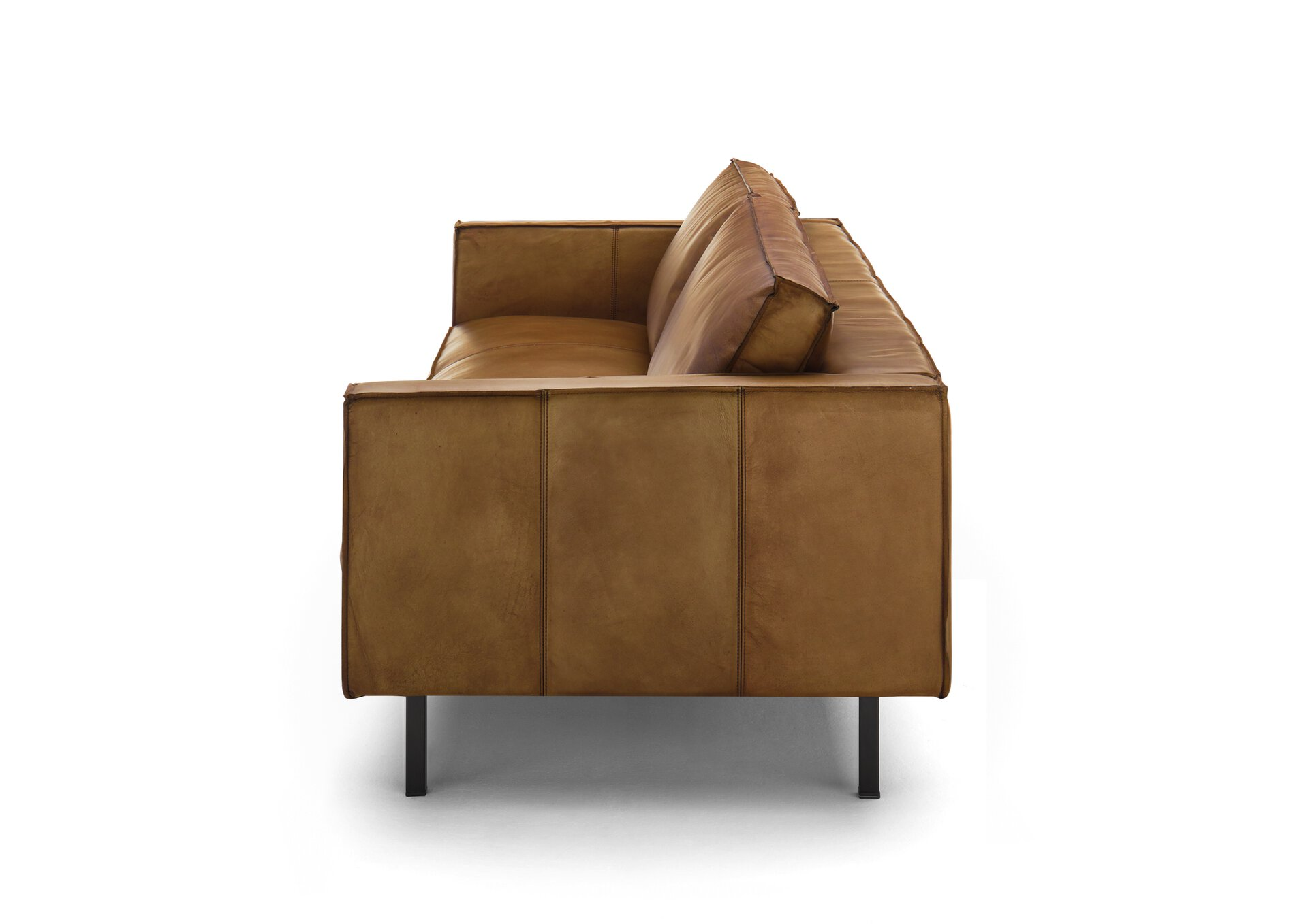 Sofa 3-Sitzer WK6001 FINLAND 227 WK Wohnen Edition Leder braun 93 x 82 x 221 cm