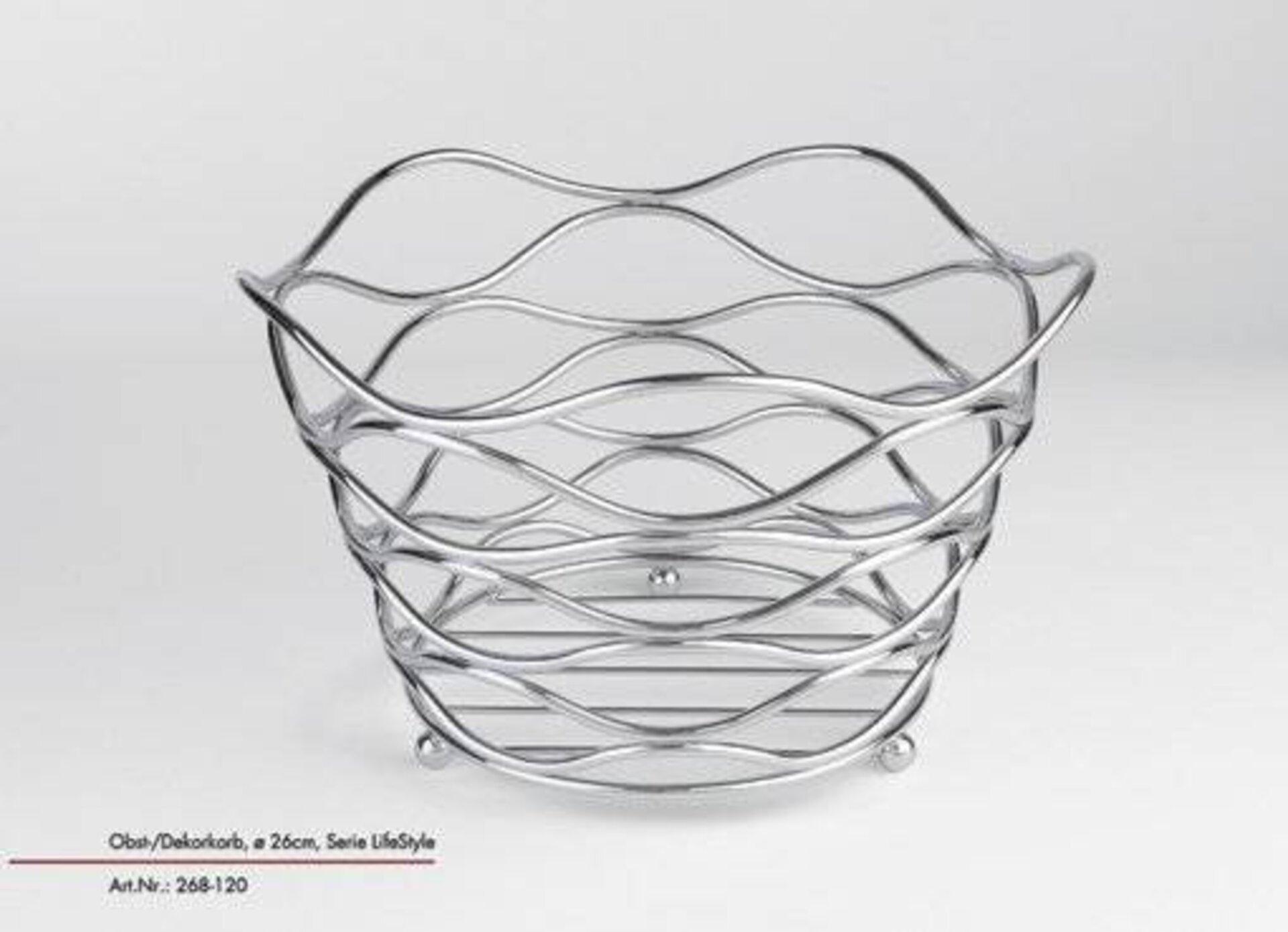 Obstkorb LifeStyle Justinus Bestecke Metall 26 x 16 x 26 cm