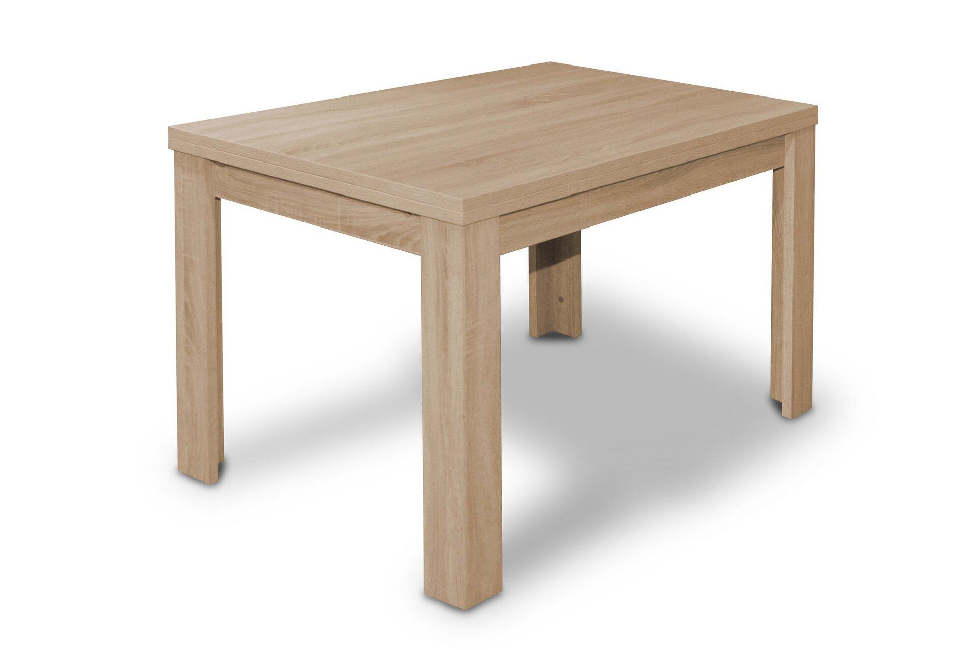 Tisch mit Auszug ZIP Mäusbacher Textil braun 80 x 78 x 120 cm