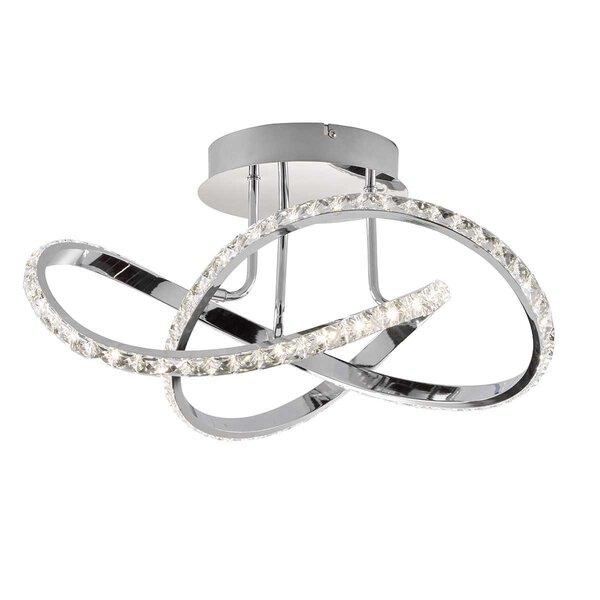 Deckenleuchte Wofi Leuchten Metall chrom ca. 55 cm x 28 cm x 55 cm