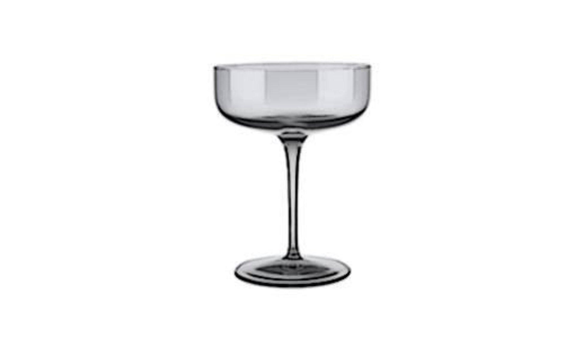 Cocktailglas mit niedrigem am breiten Trinkglas auf einem langen Stiel. Das für Margeritas typische Cocktailglas steht als Icon für alle Produkte dieser Klasse.