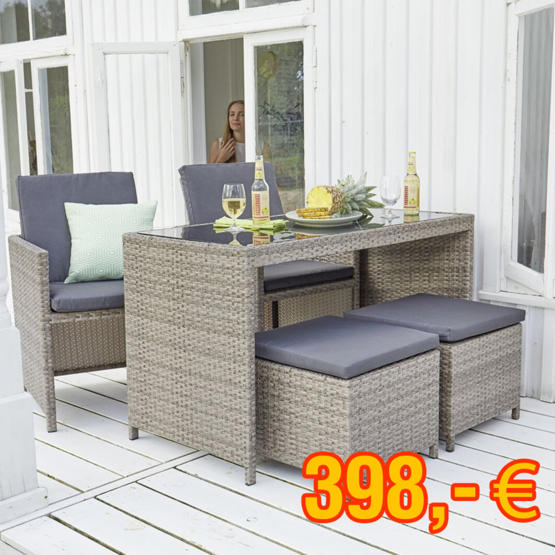 Kompaktes Loungemöbel-Set für 398 €