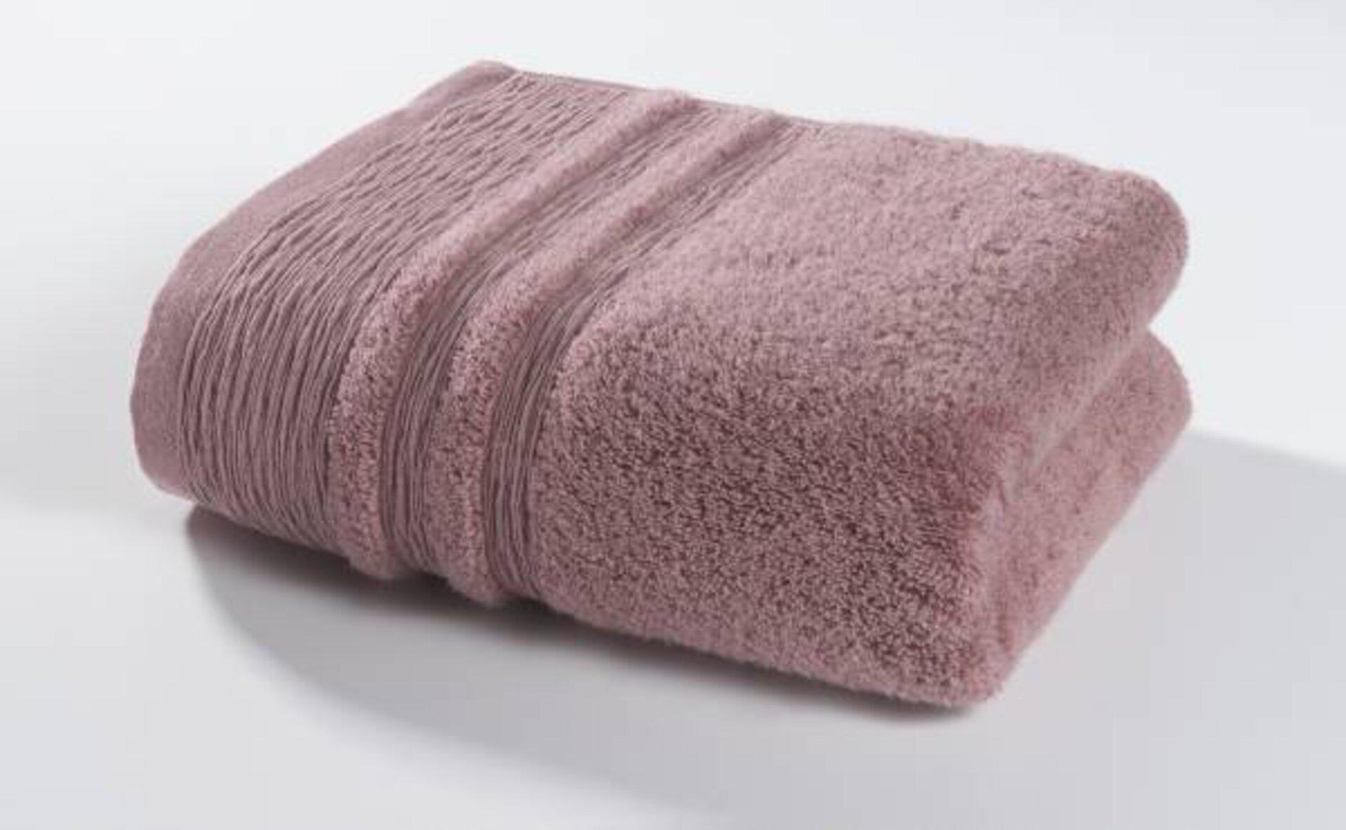 Badetuch Organic Kenborg Textil rosa 100 x 150 cm