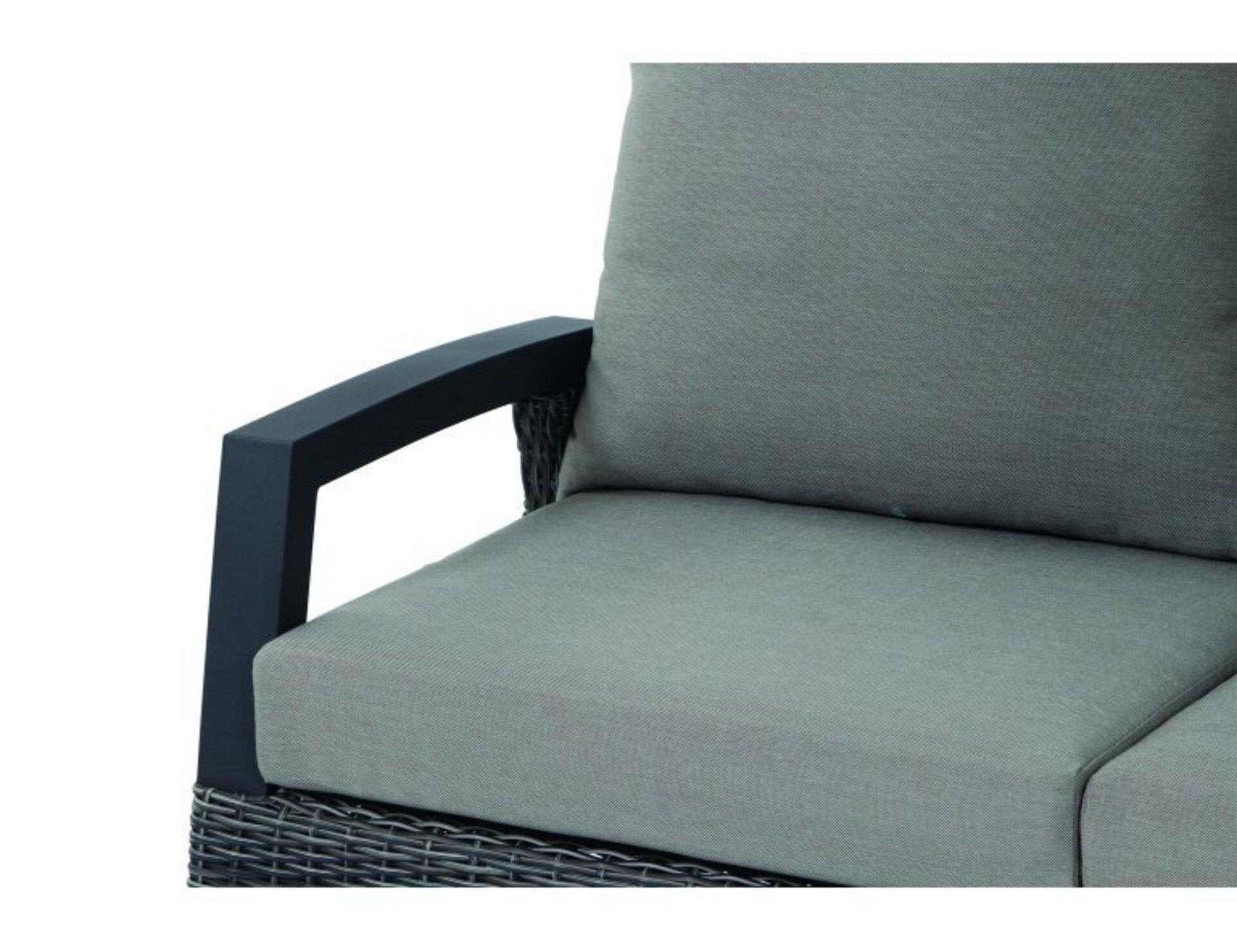 Sofa 2-Sitzer CORIDO Siena Garden Textil grau 83 x 88 x 136 cm