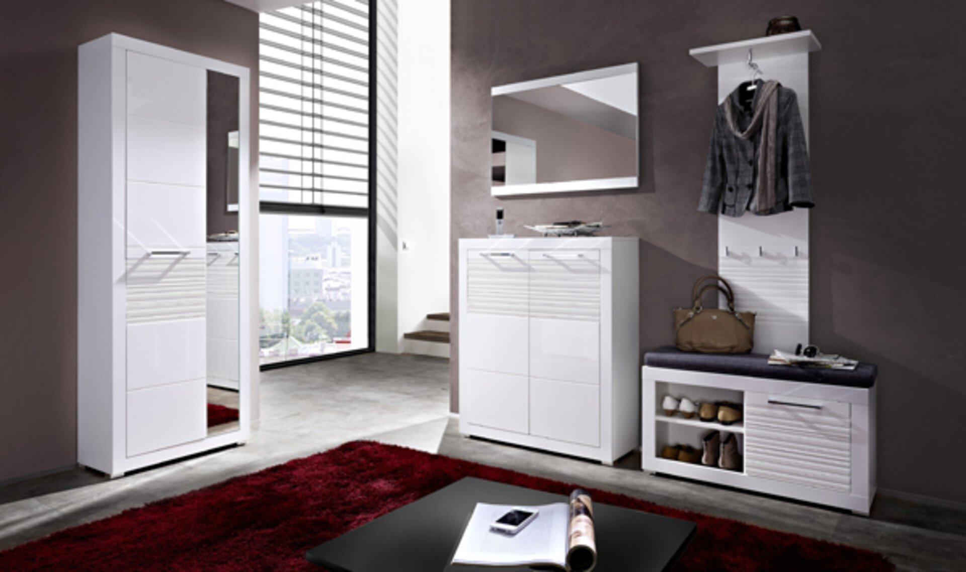Spiegel LIFE inDoor Holzwerkstoff weiß 2 x 68 x 92 cm