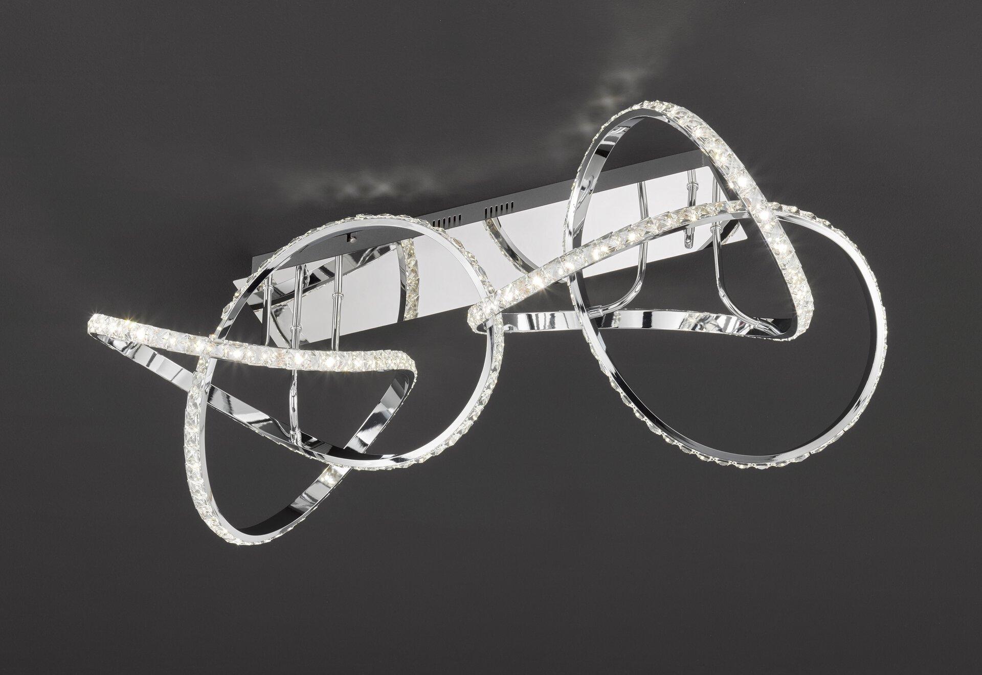 Deckenleuchte ABRO Wofi Leuchten Metall silber 46 x 31 x 91 cm