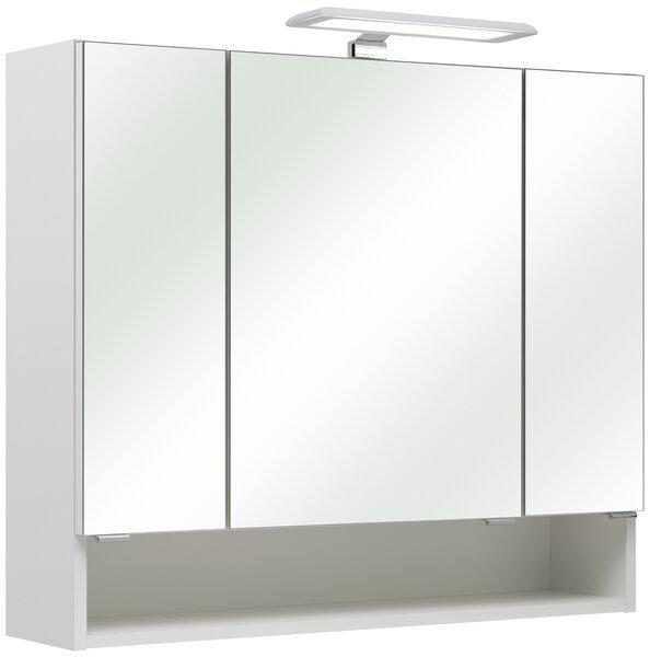 Spiegelschrank PELIPAL Glas weiß glanz