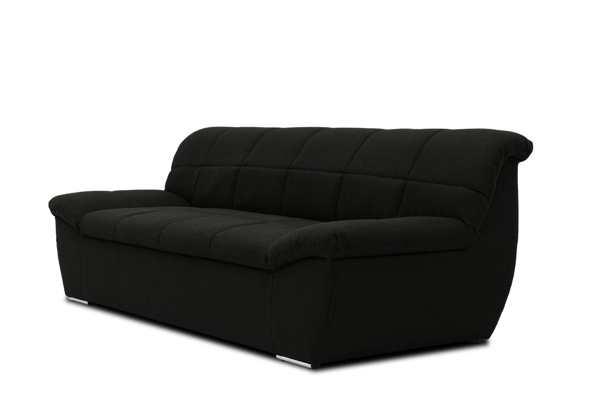 Sofa 2-Sitzer Splash Domo Collection Textil schwarz 96 x 76 x 211 cm