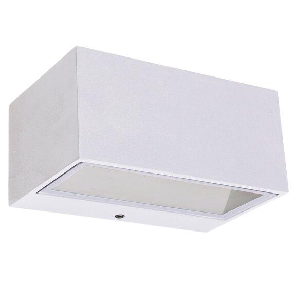 Wand-Aussenleuchte Eco-Light  Metall weiss ca. 7 cm x 9 cm x 14 cm