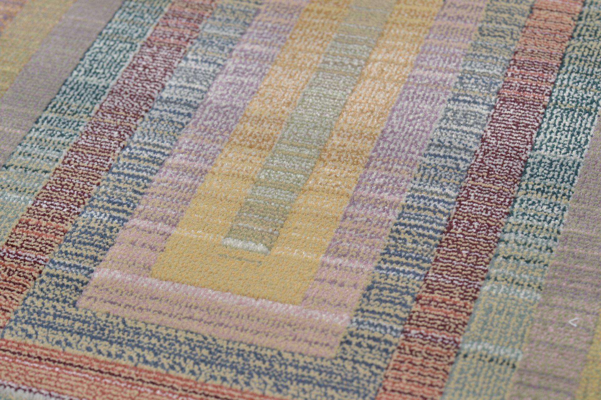 Maschinenwebteppich Gabiro Theko Textil lila 240 x 340 cm