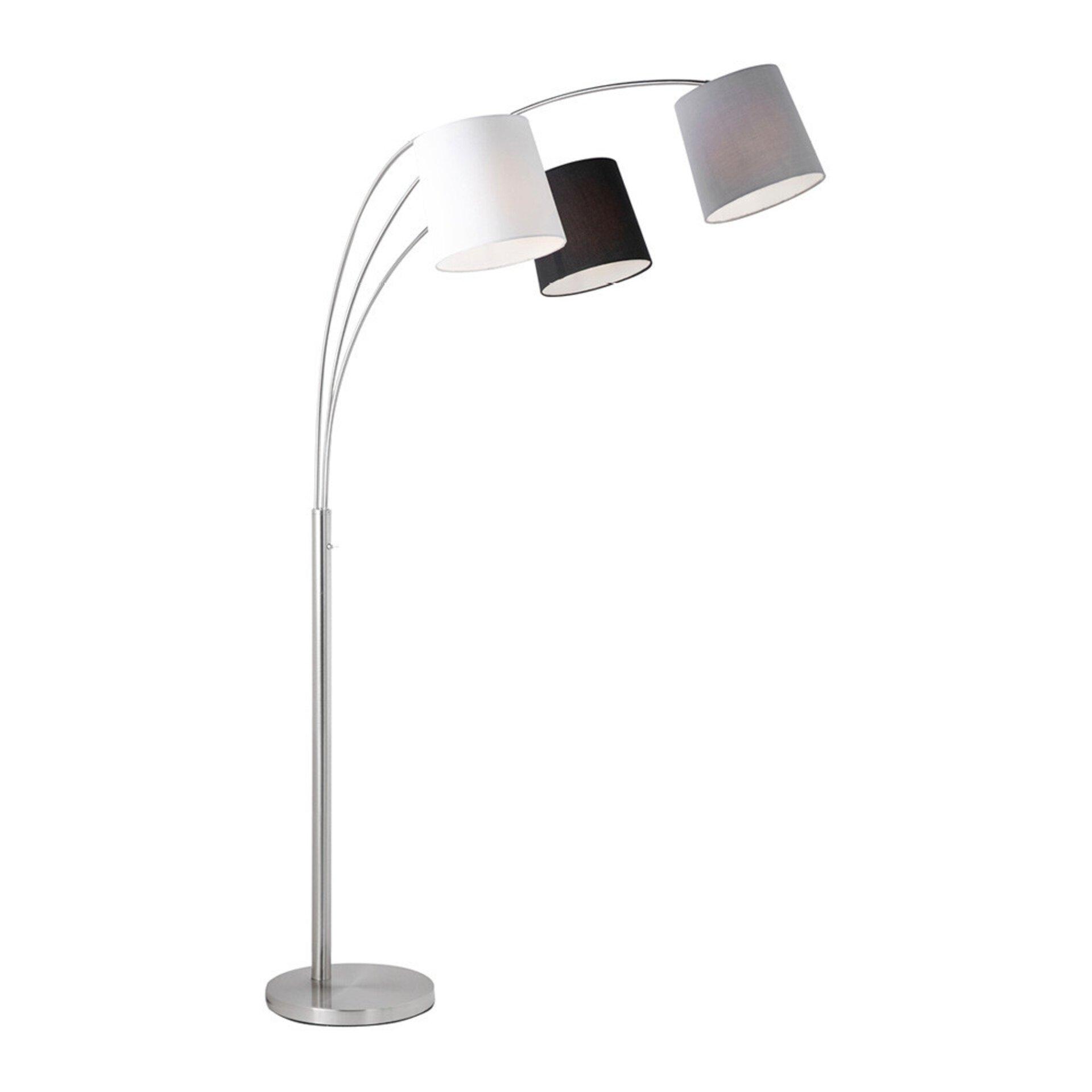 Stehleuchte MELVIN Leuchtendirekt Metall silber 32 x 180 x 95 cm