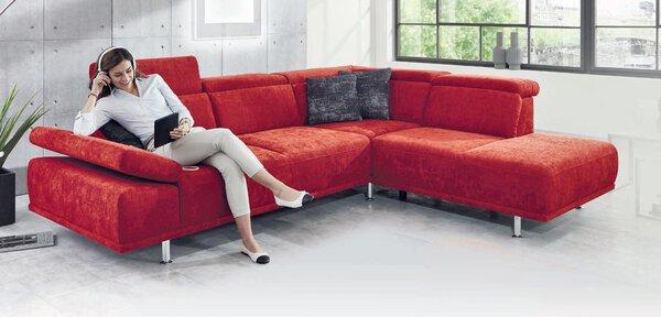 Sofa 3-Sitzer Vito Textil Stoff Marche rot ca. 234 cm x 94 cm x 275 cm