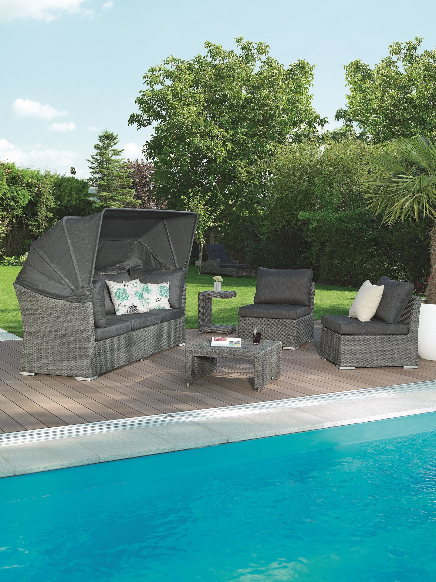 Lounge-Set Barcelona Outdoor Metall
