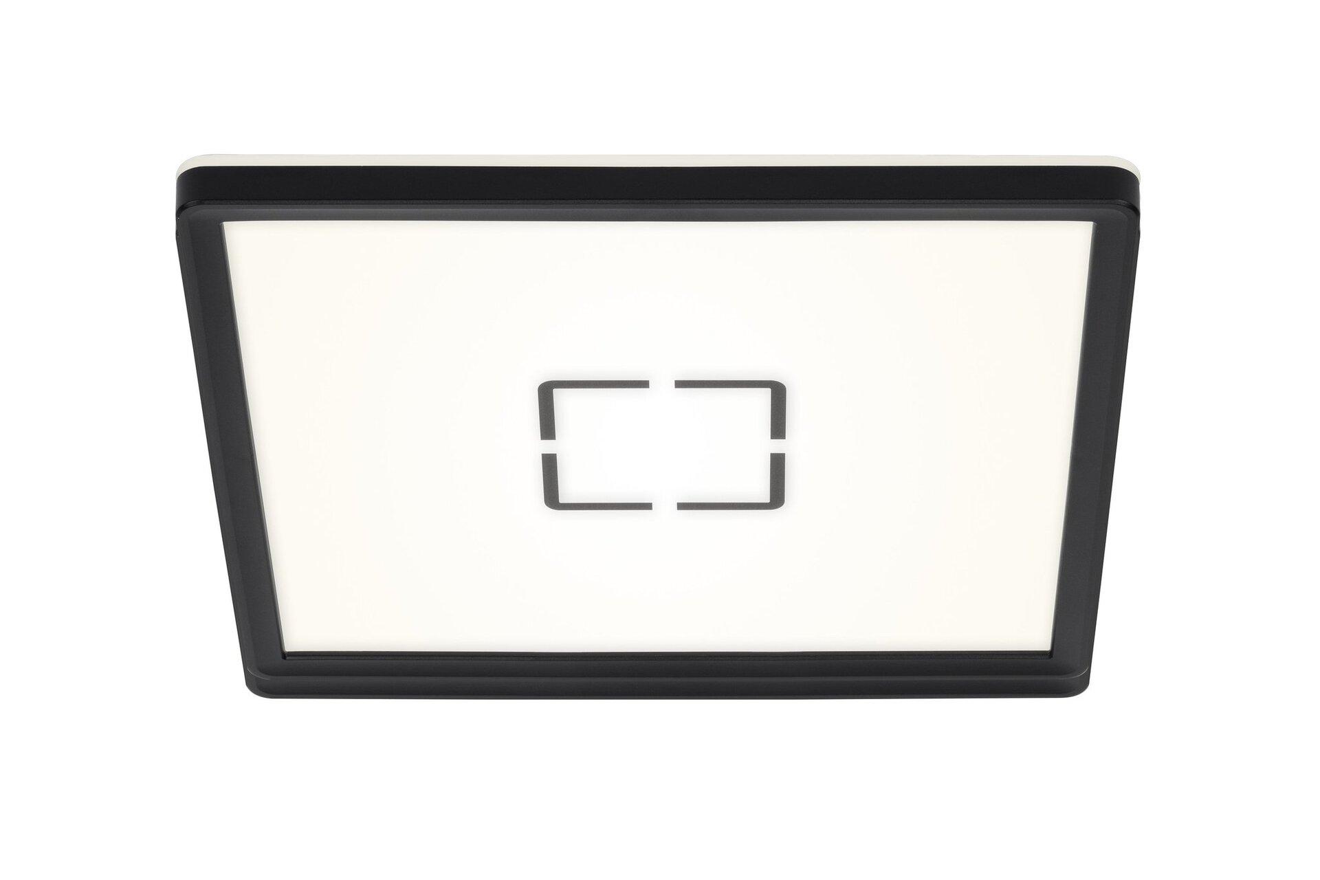 Deckenleuchte Free Briloner Metall schwarz 29 x 2 x 29 cm