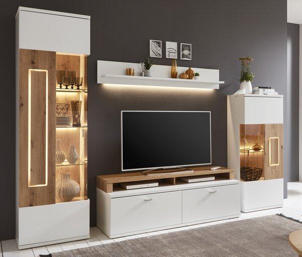 Wohnwand Ideal  Holzwerkstoff Korpus: weiß Melamin