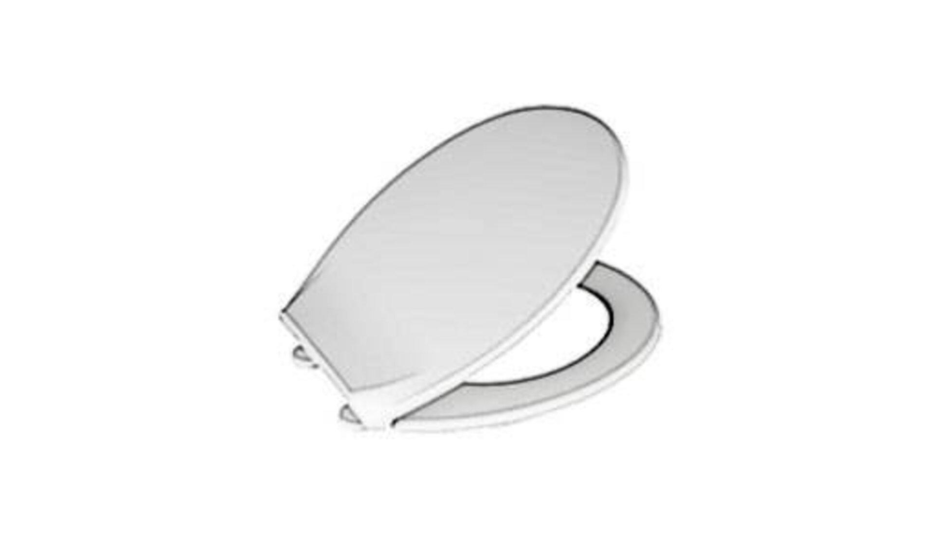 Als Icon für WC-Sitze zeigt das Bild eine Klobrille mit leicht geöffnetem Toilettendeckel.