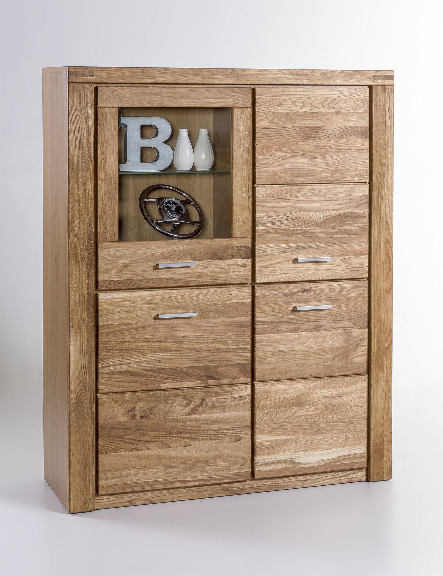 Vitrine TABEA CELECT Holz braun 40 x 140 x 110 cm