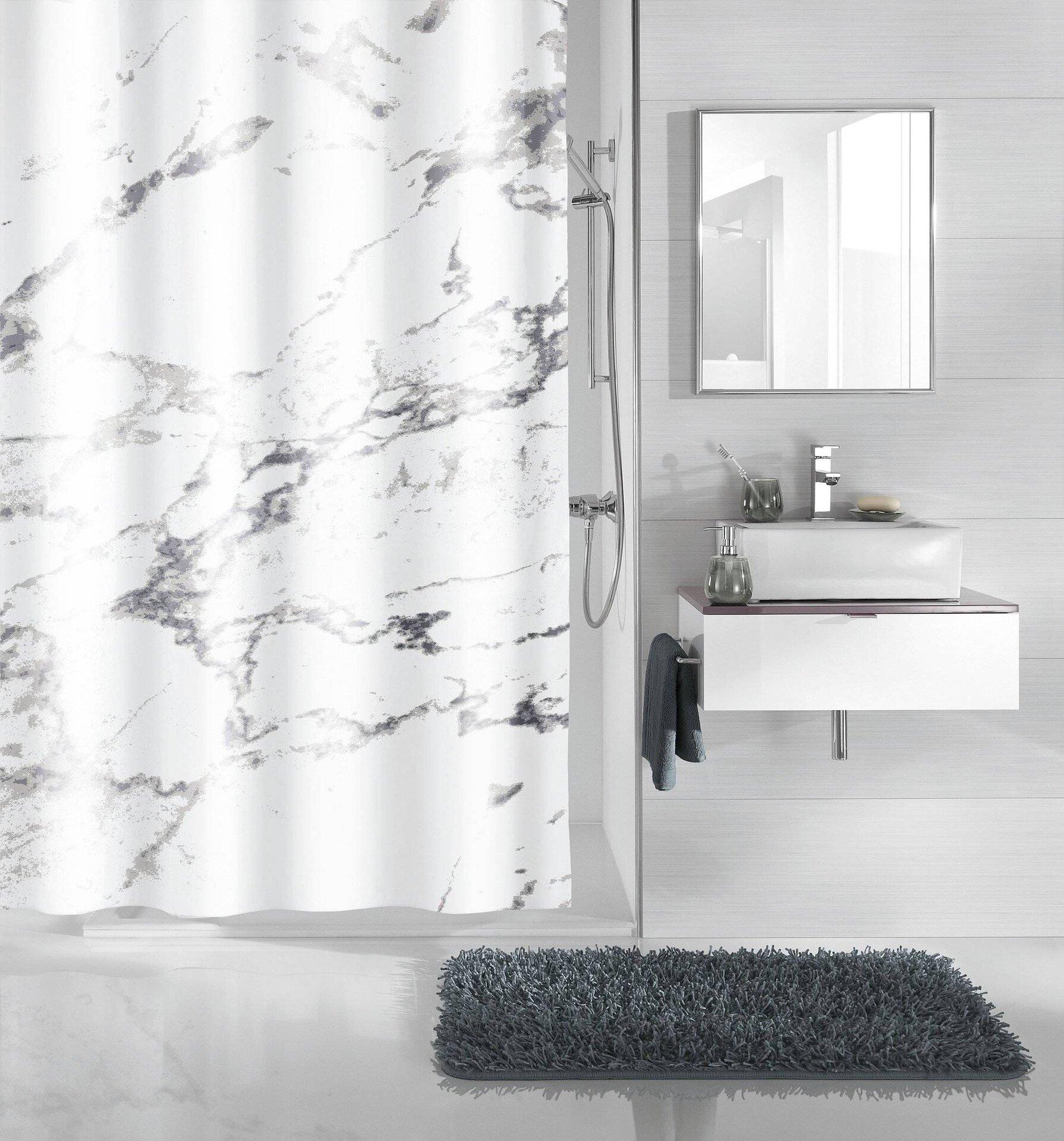 Duschvorhang Marble Kleine Wolke Textil 200 x 180 cm