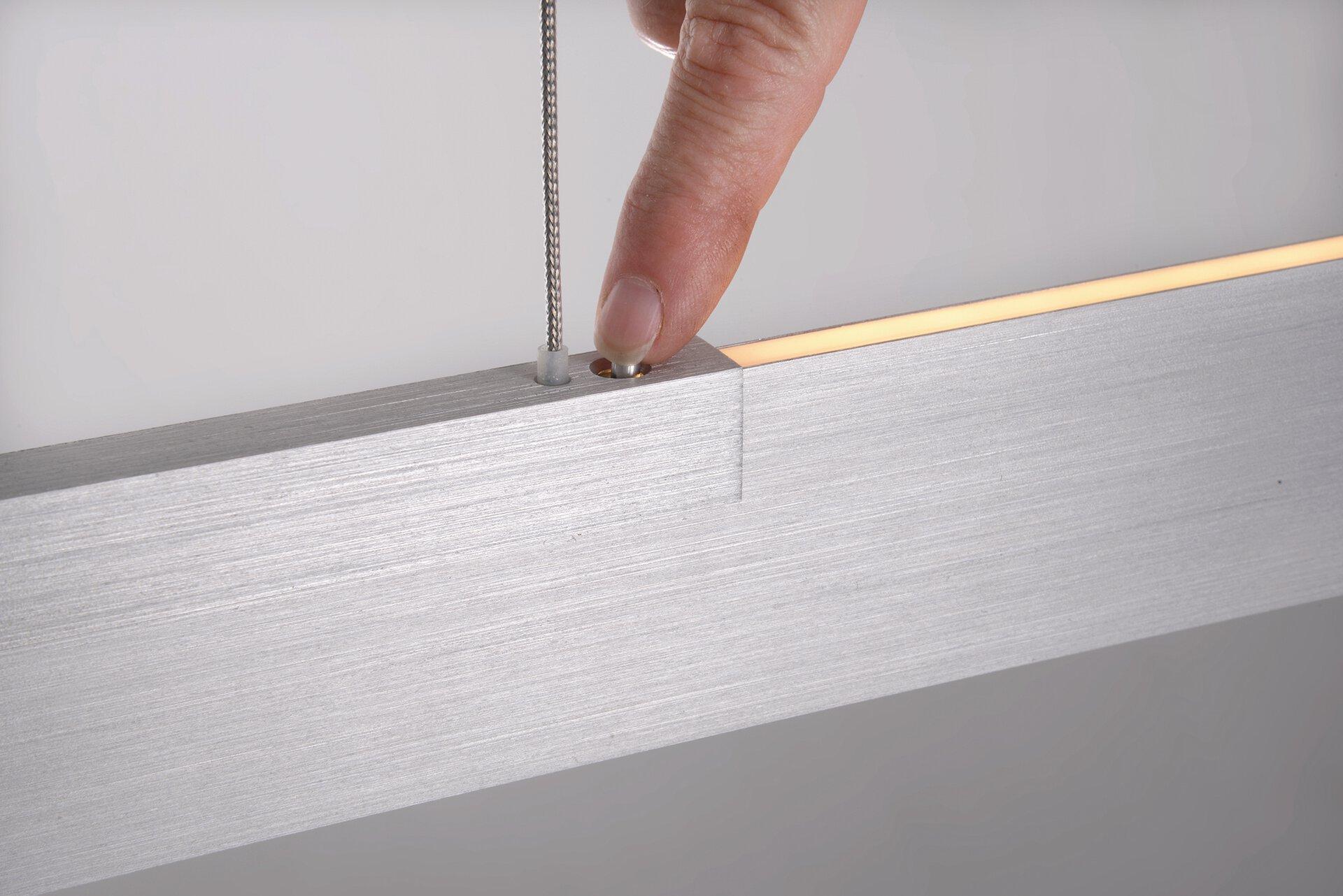 Pendelleuchte NANO Bopp Metall silber 1 x 140 x 141 cm