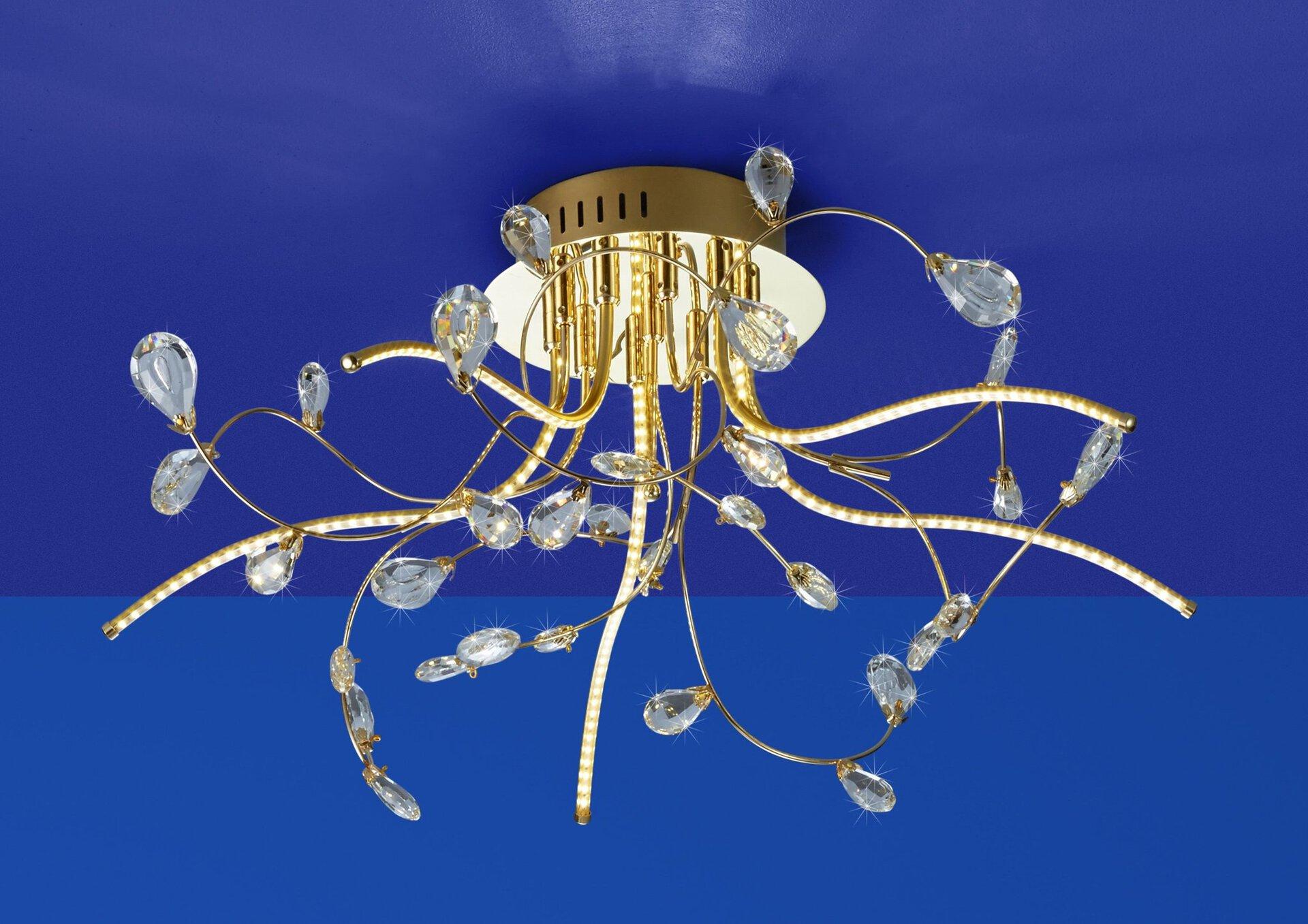 Deckenleuchte CRYSTAL B-Leuchten Metall gold 54 x 30 x 54 cm