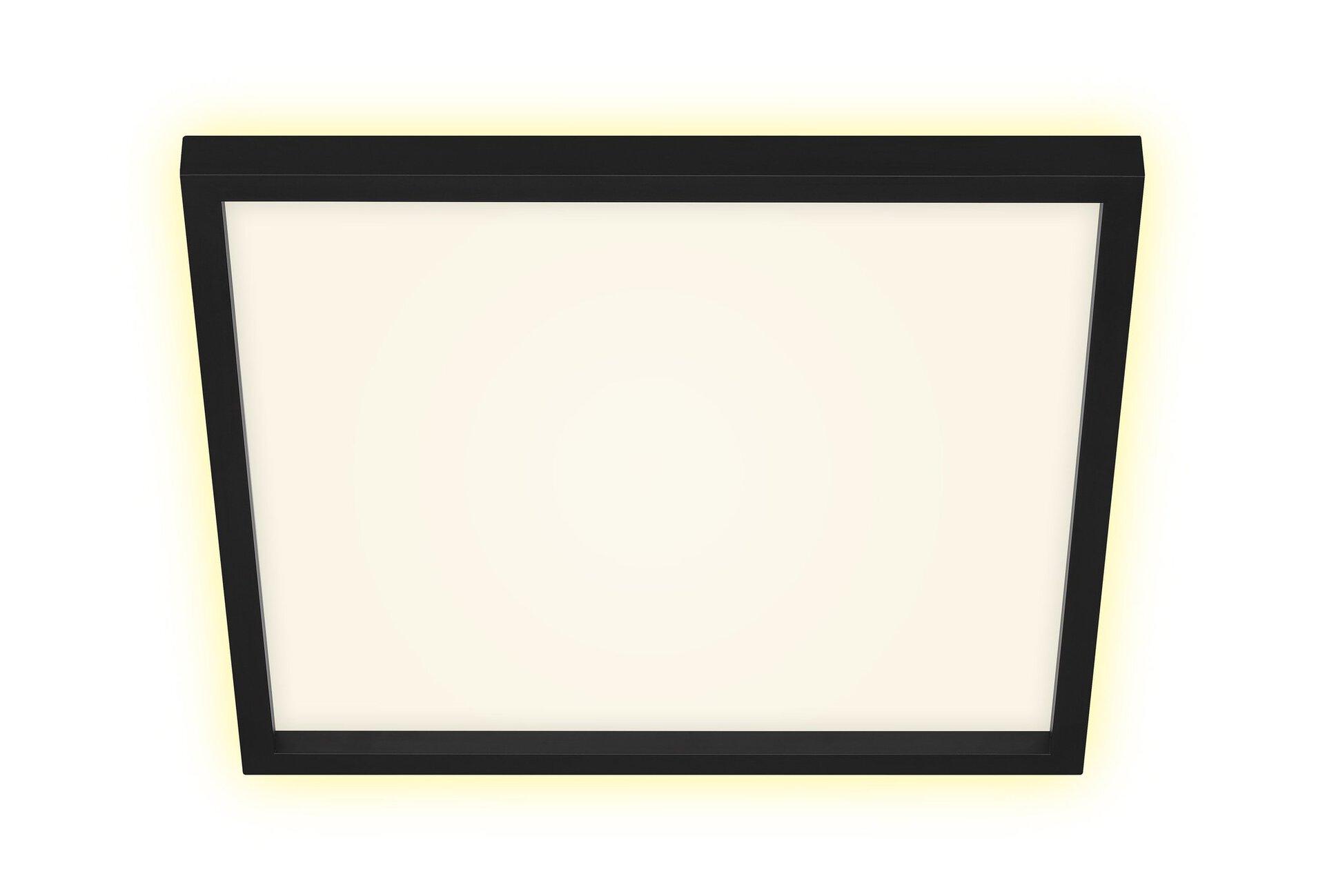 Deckenleuchte CADRE Briloner Metall schwarz 42 x 4 x 42 cm
