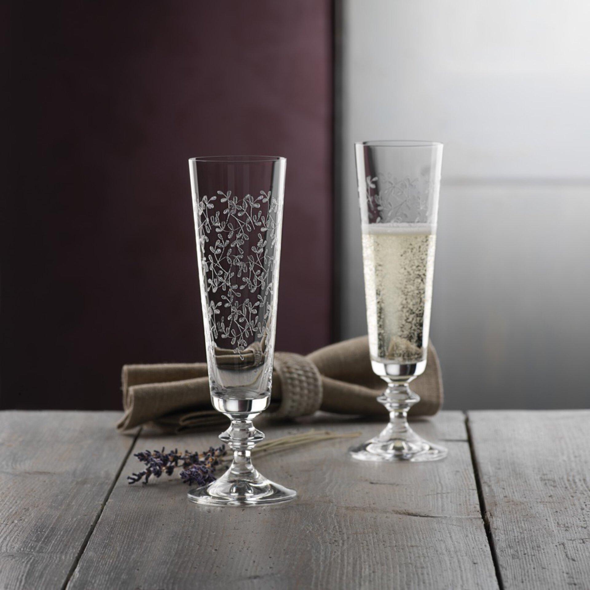 Sektglas Provence Bohemia Cristal Glas transparent 21 x 14 cm