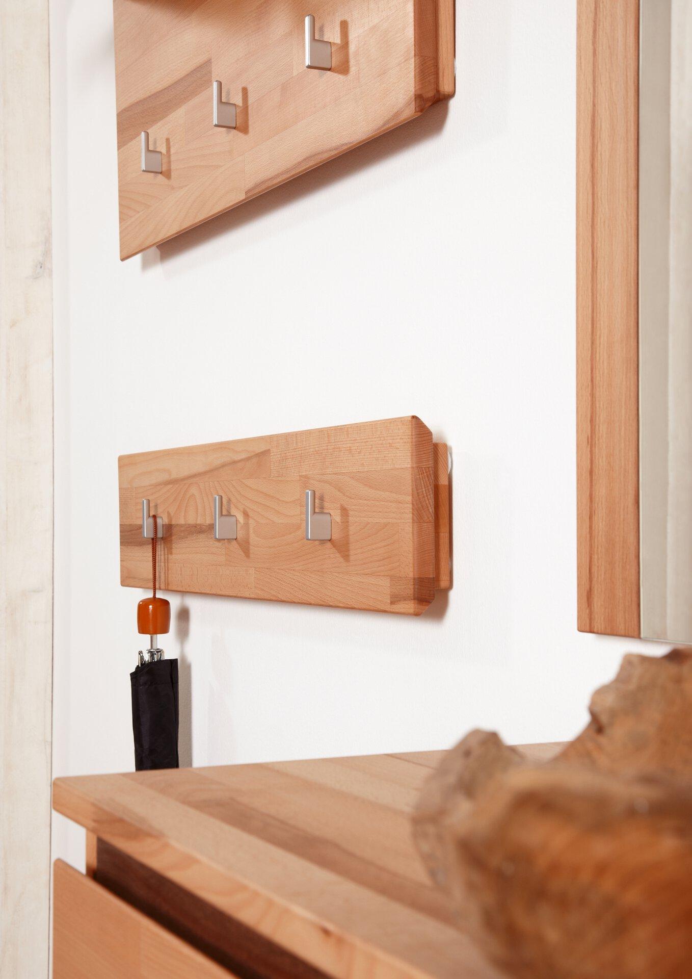 Garderobenpaneel POUR VALMONDO Holz braun 4 x 17 x 80 cm