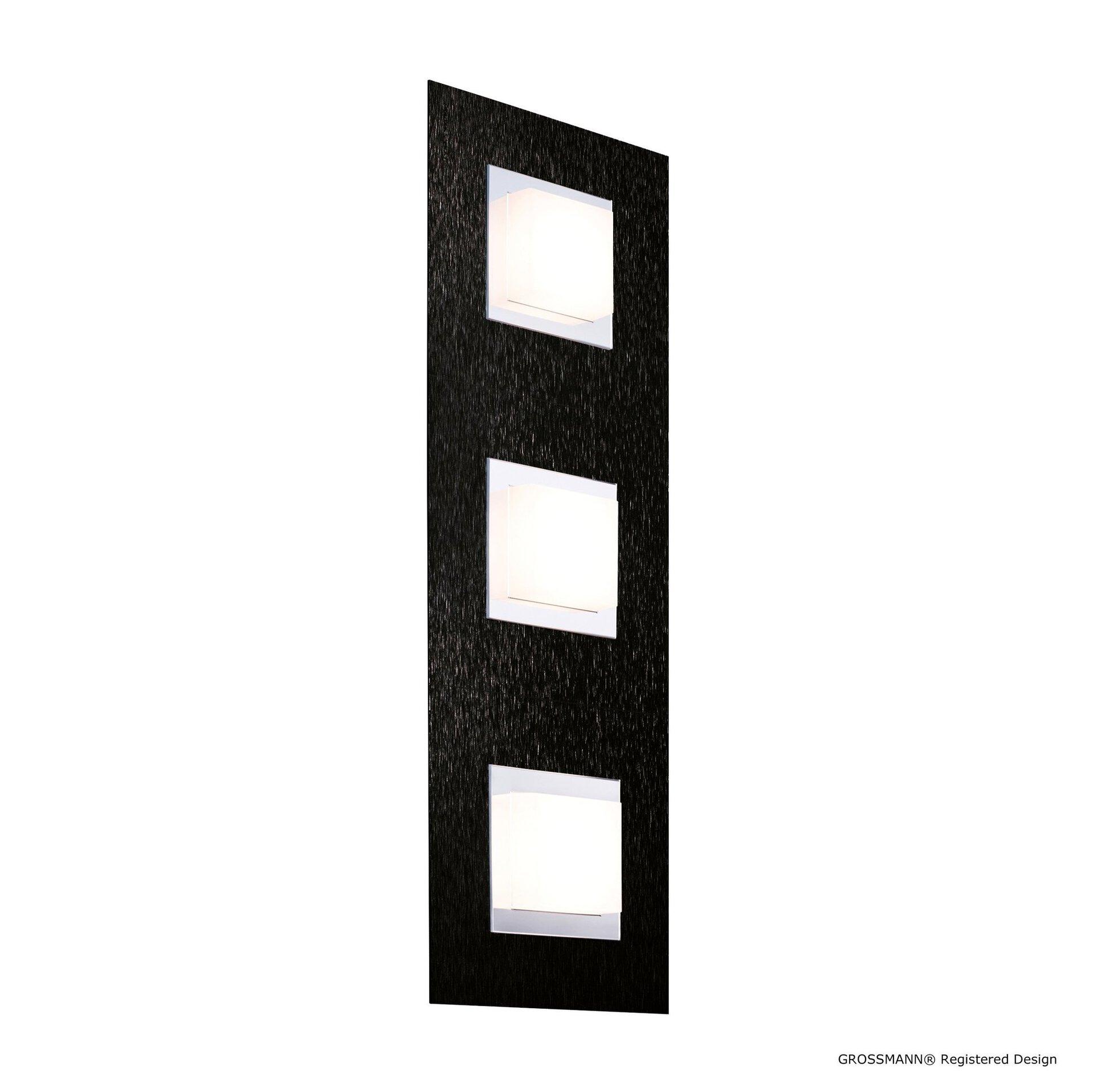 Deckenleuchte basic Grossmann Metall schwarz 15 x 5 x 45 cm