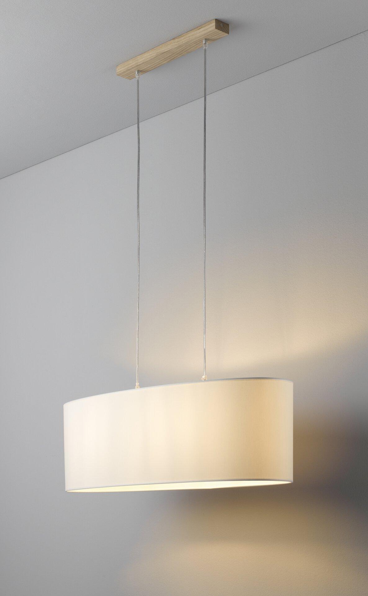 Hängeleuchte MALGO MONDO Textil weiß 30 x 110 x 75 cm
