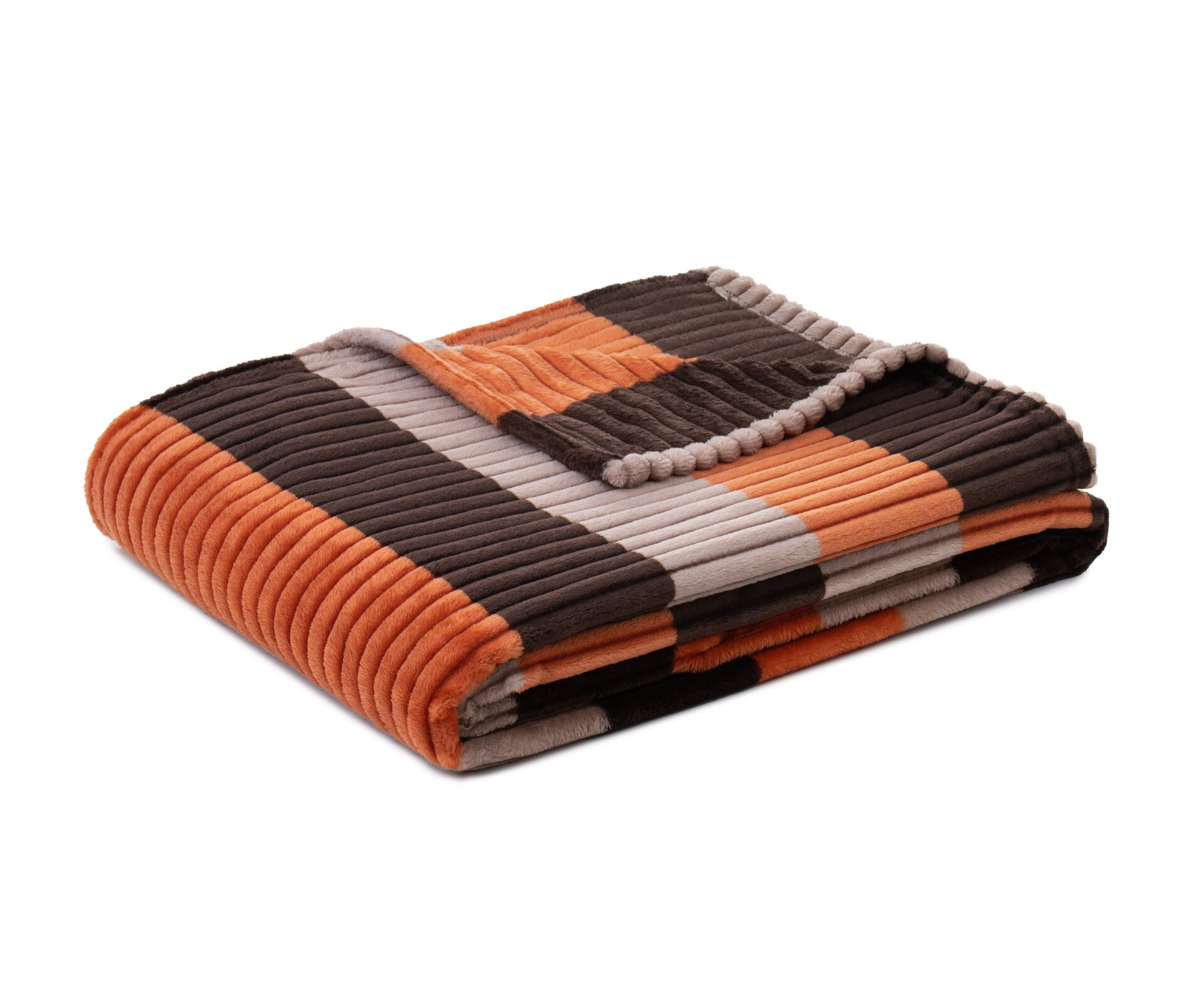 Wohndecke Cord Optik Ambiente Trendlife Textil orange 150 x 200 cm