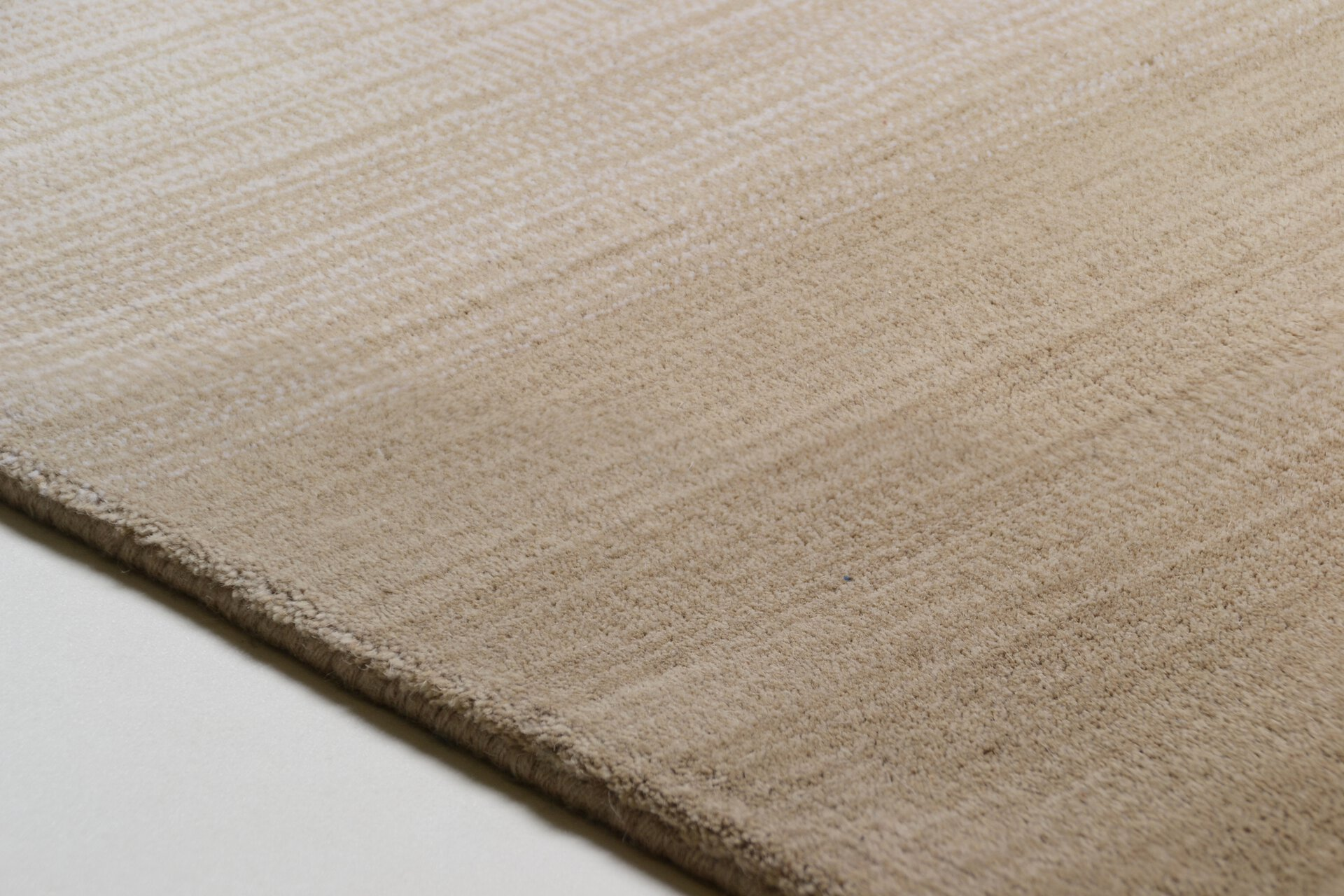 Handwebteppich Wool Star Theko Textil braun 1 cm