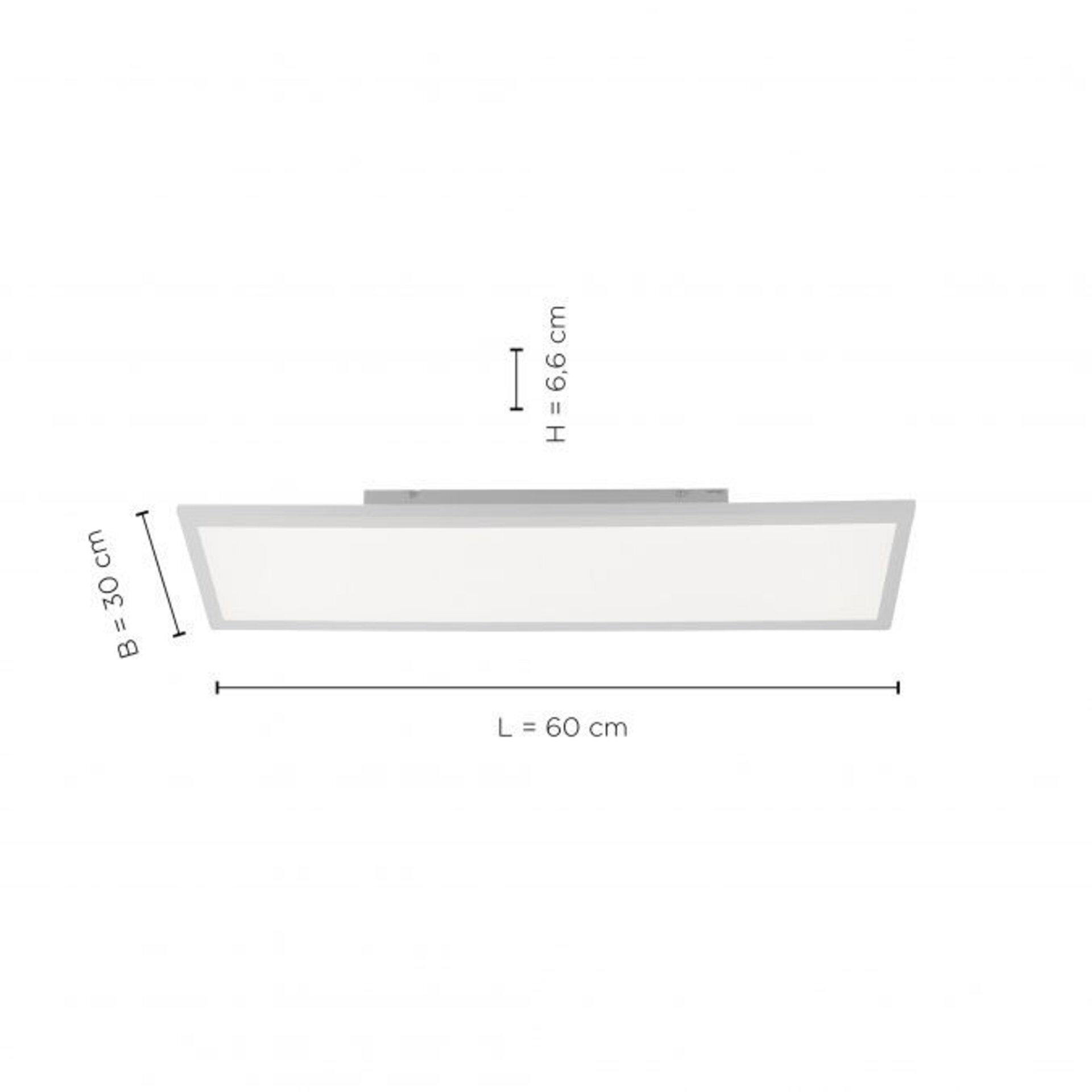 Deckenleuchte FLEET Leuchtendirekt Kunststoff 30 x 7 x 60 cm