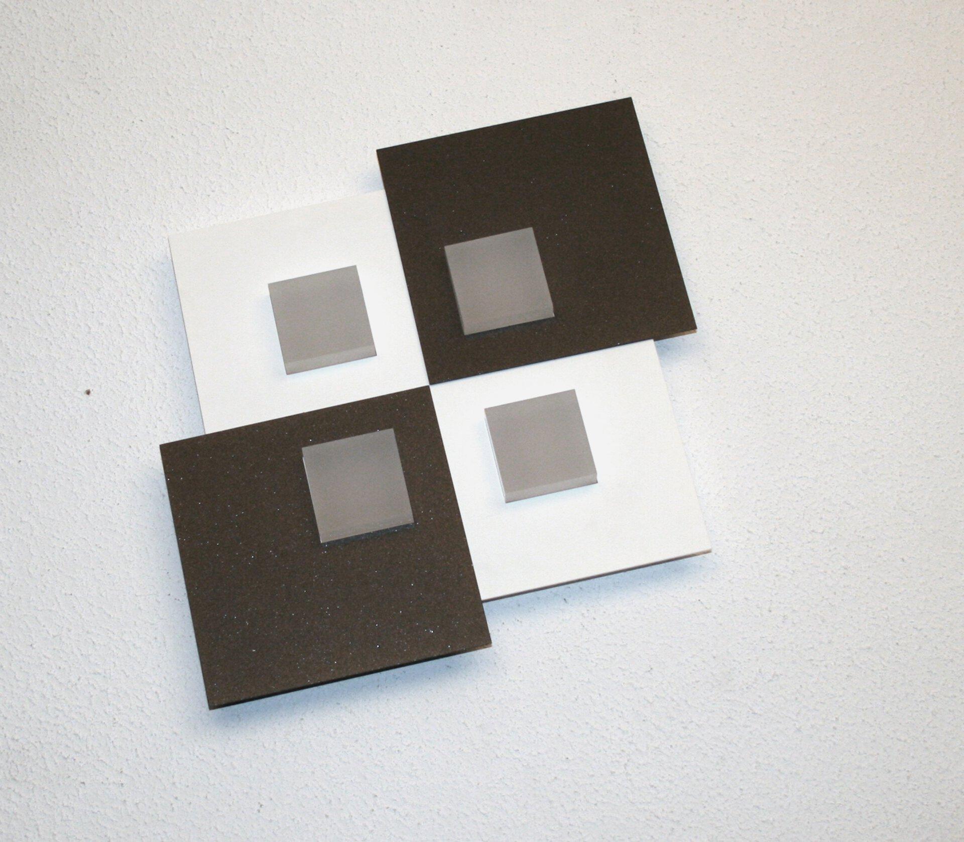 Deckenleuchte PIXEL 2.0 Bopp Metall weiß 25 x 4 x 25 cm