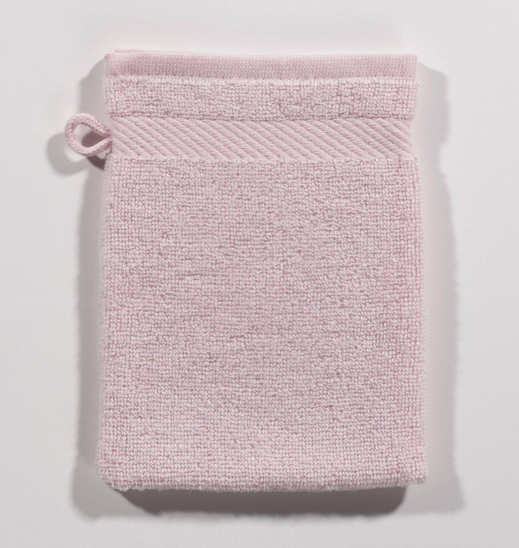 Waschhandschuh Micro Baumwolle Casa Nova Textil rosa 16 x 21 cm