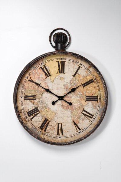 Uhr Kare Design Metall beige
