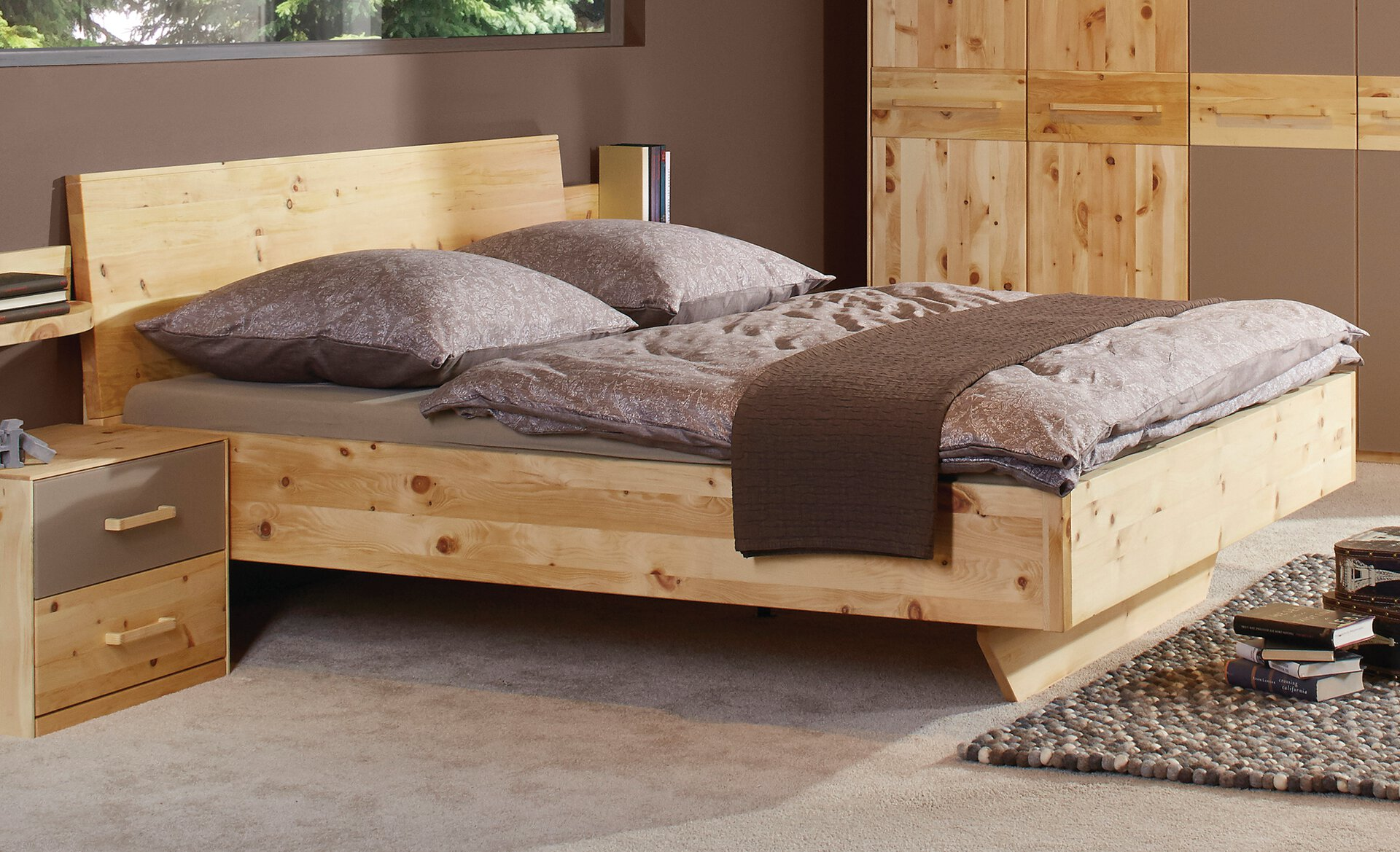 Bett BELLA Lip Pohistvo Holz braun 190 x 105 x 212 cm