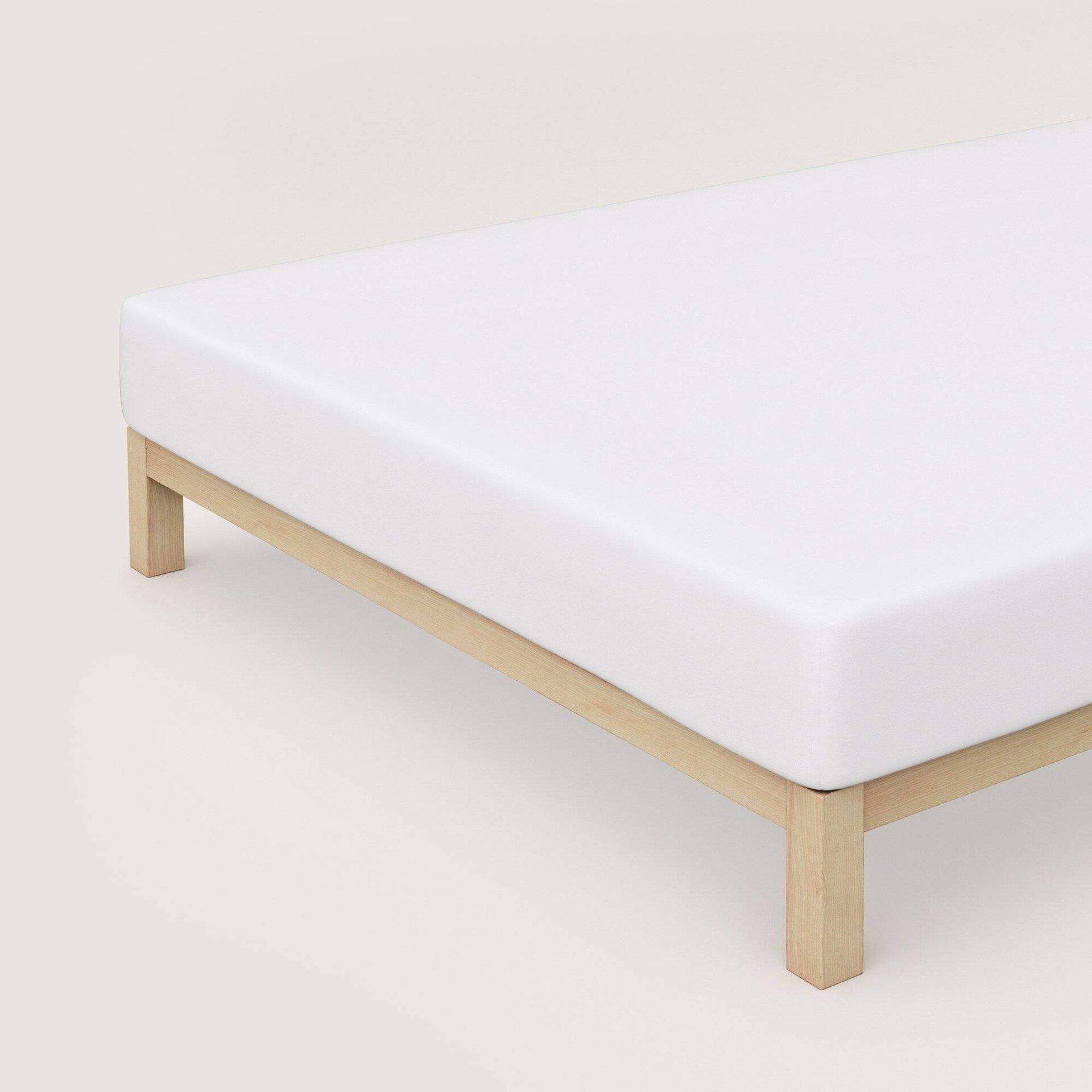 Elastan Jersey-Spannbetttuch Schlafgut Textil weiß 100 x 200 cm